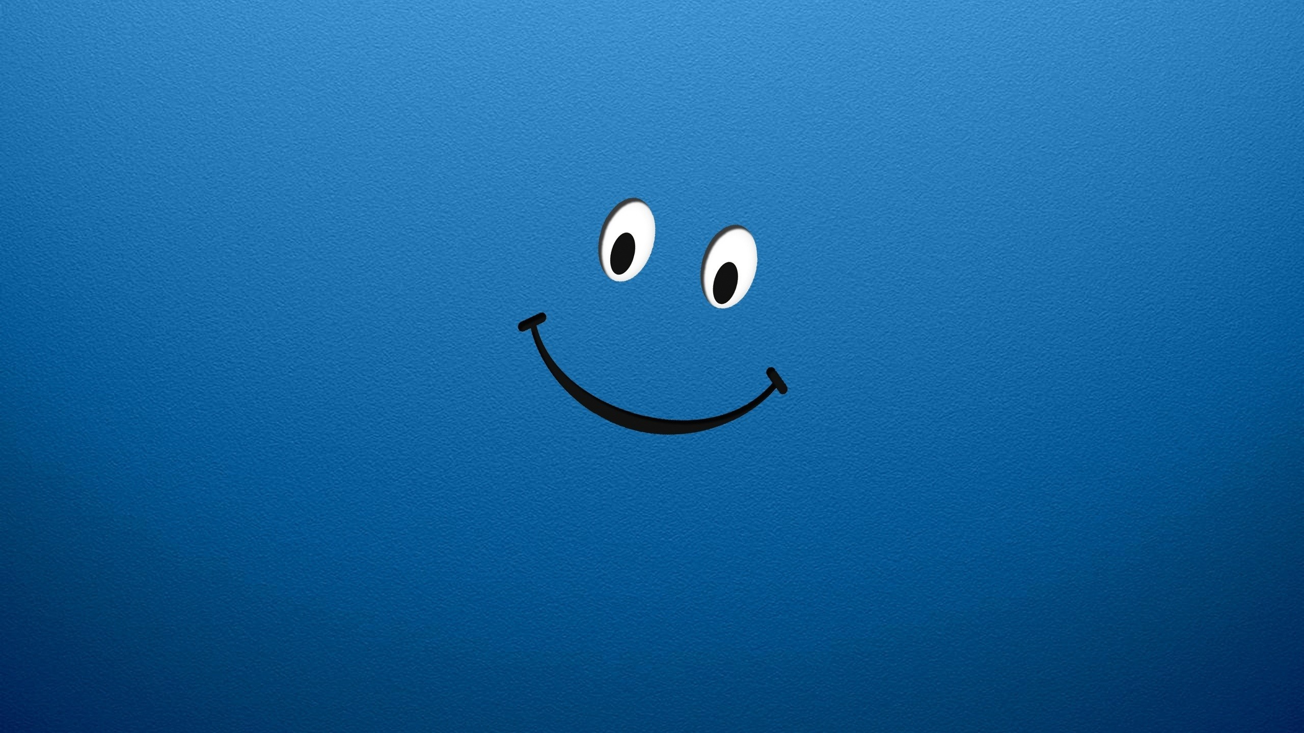 smiley face smiling blue HD Wallpaper