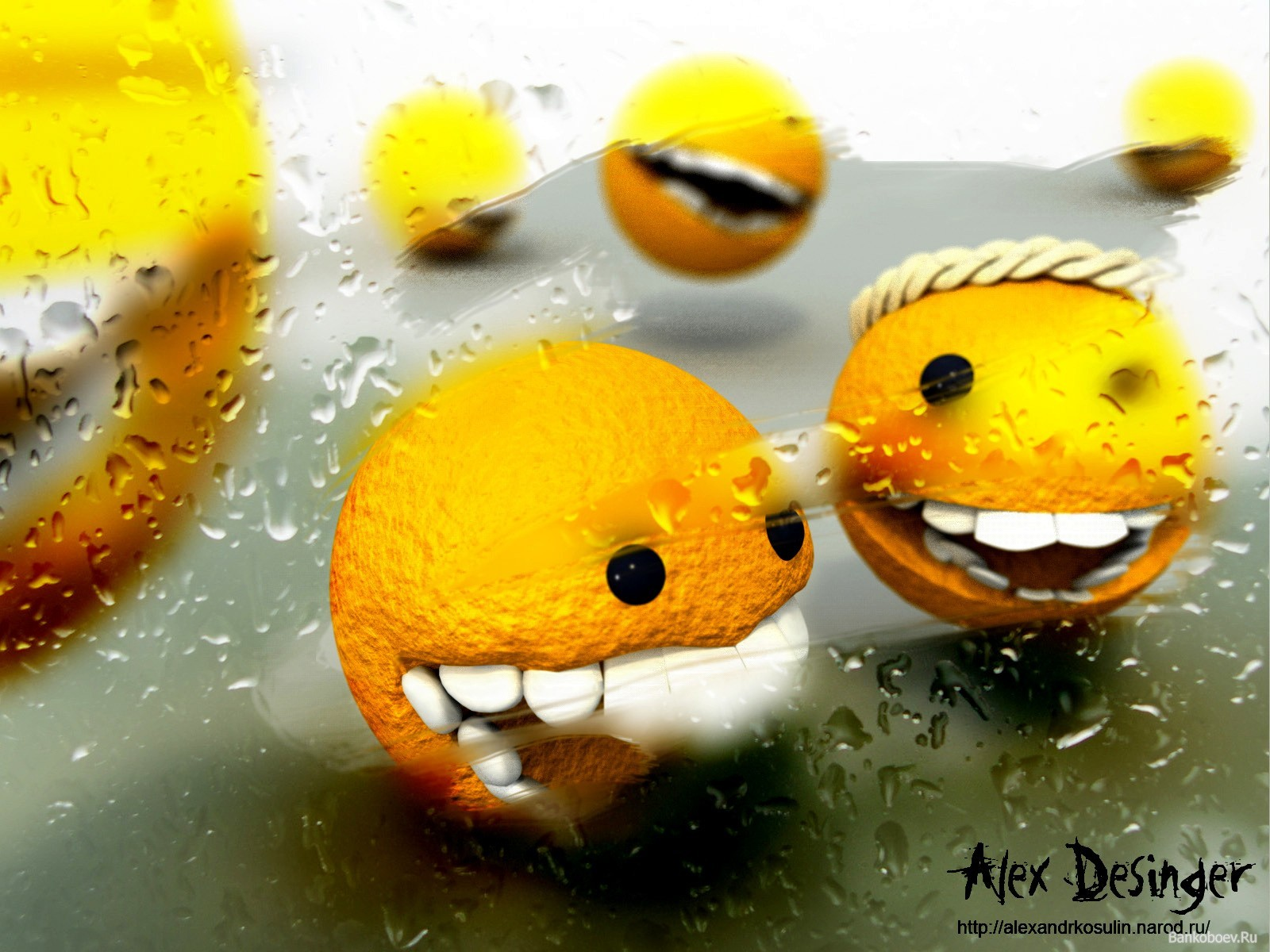 smiley oranges HD Wallpaper