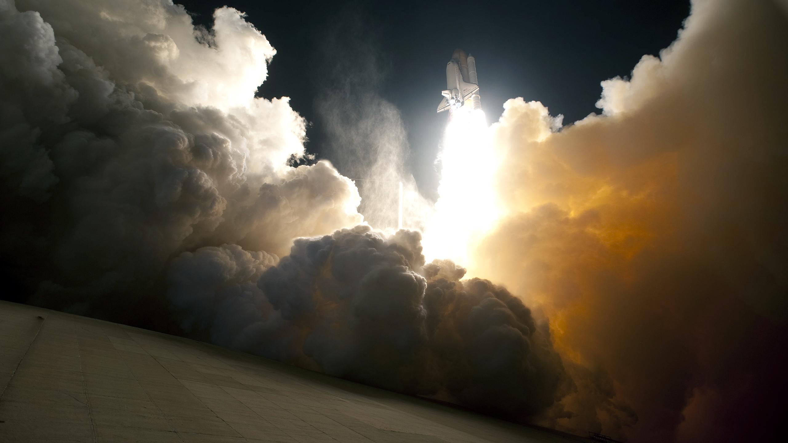 smoke space shuttle NASA HD Wallpaper
