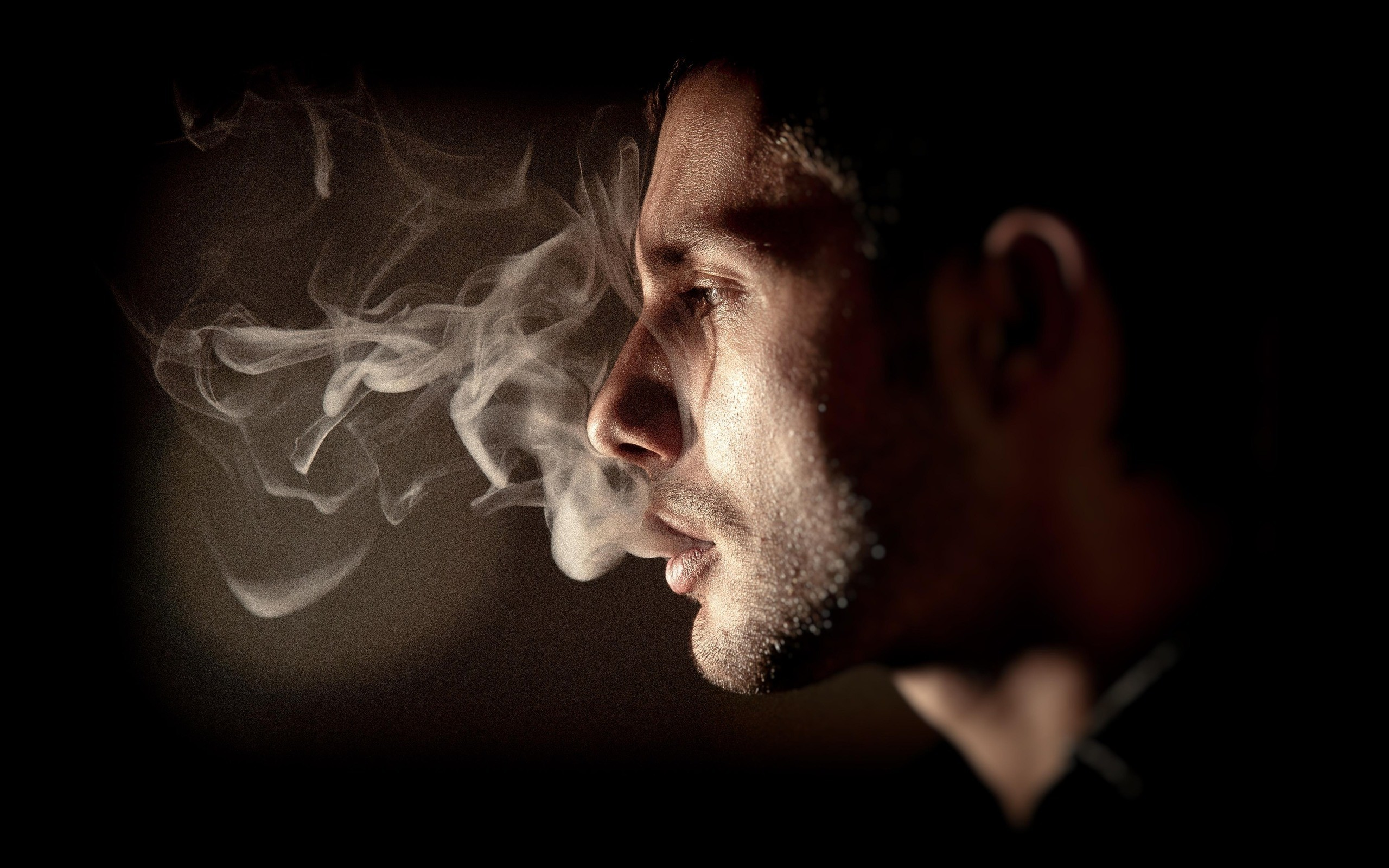 smoking smoke Men Profile HD Wallpaper