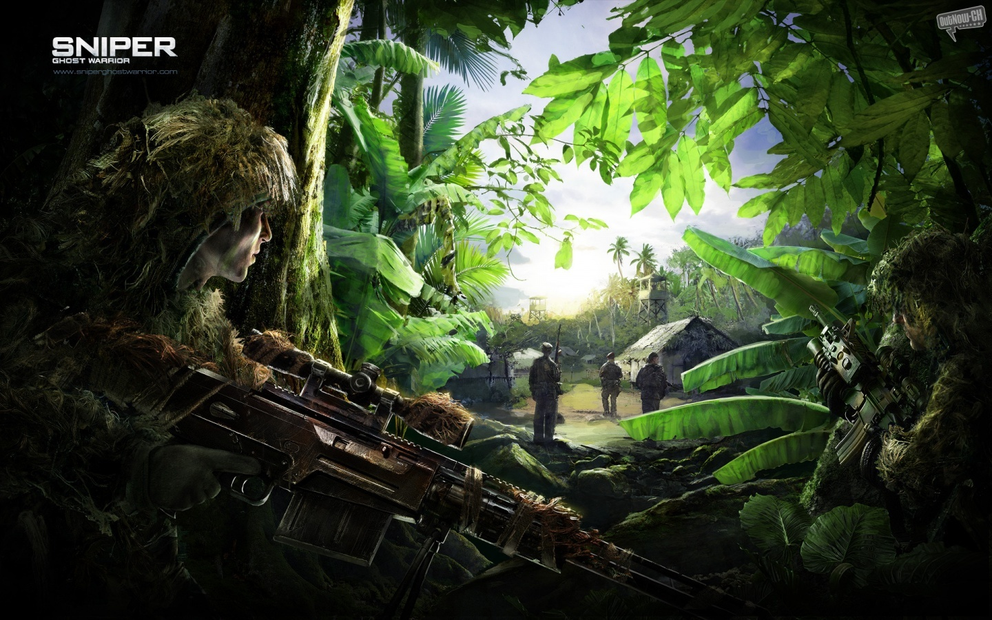 sniper ghost warrior forest HD Wallpaper