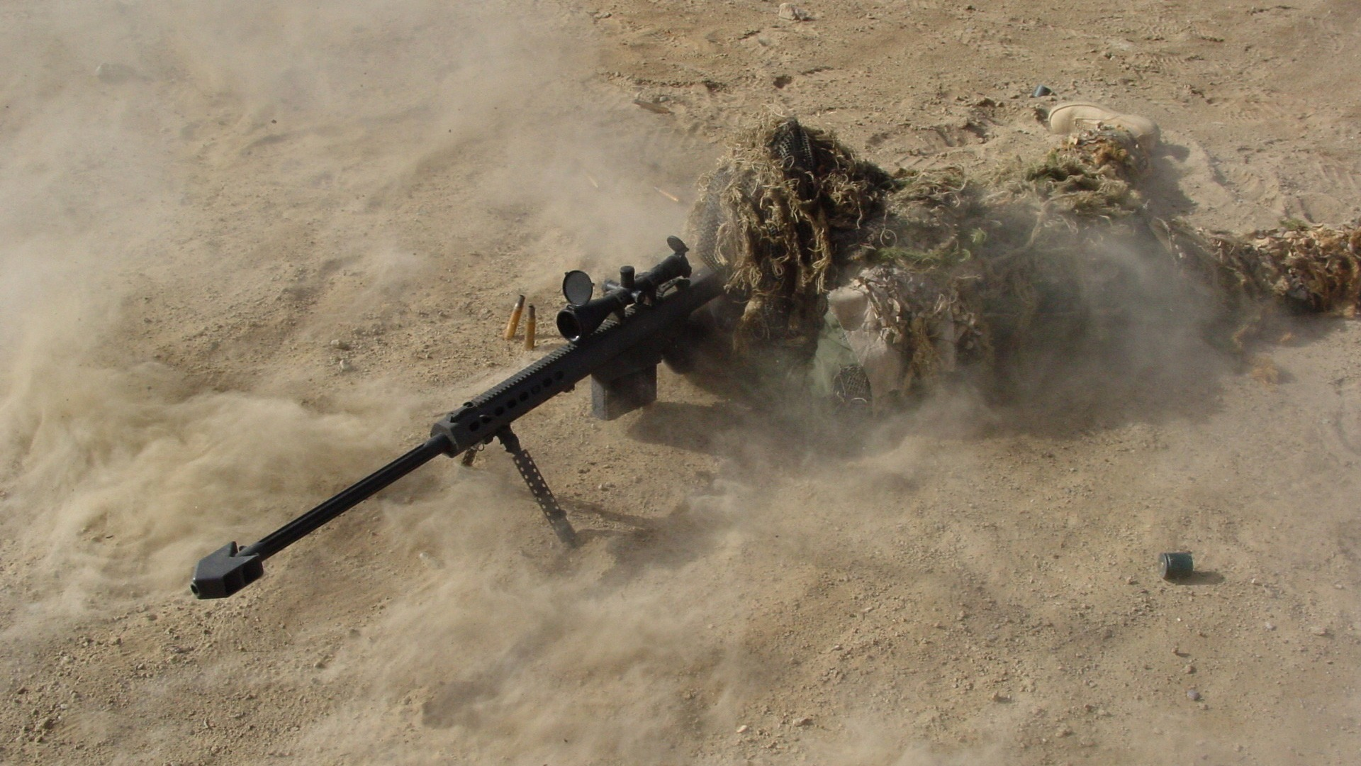 snipers camouflage Barrett HD Wallpaper