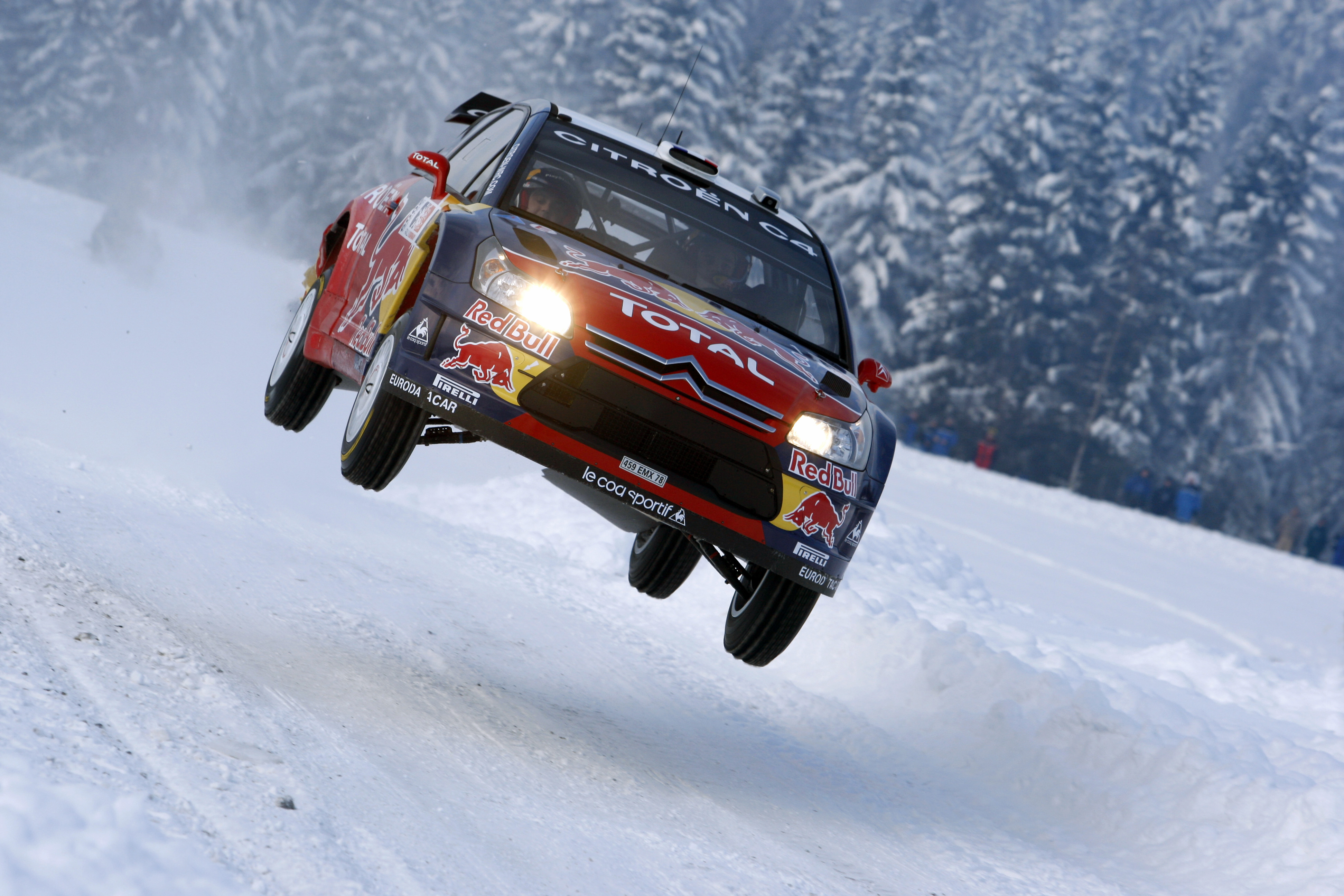 snow cars rally racing HD Wallpaper