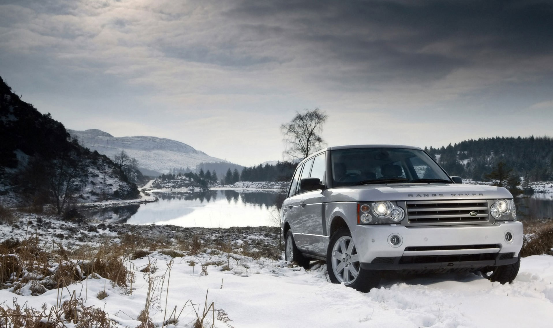 snow cars Range Rover HD Wallpaper