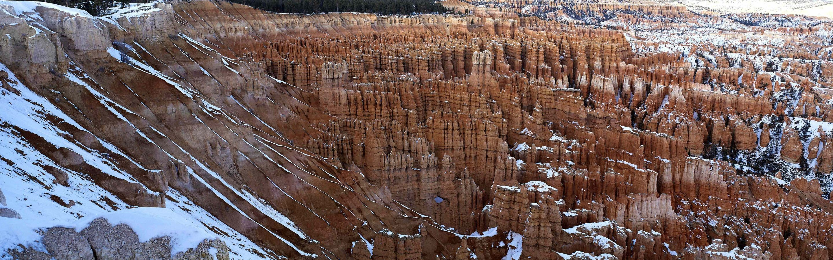 snow deserts rocks bryce HD Wallpaper