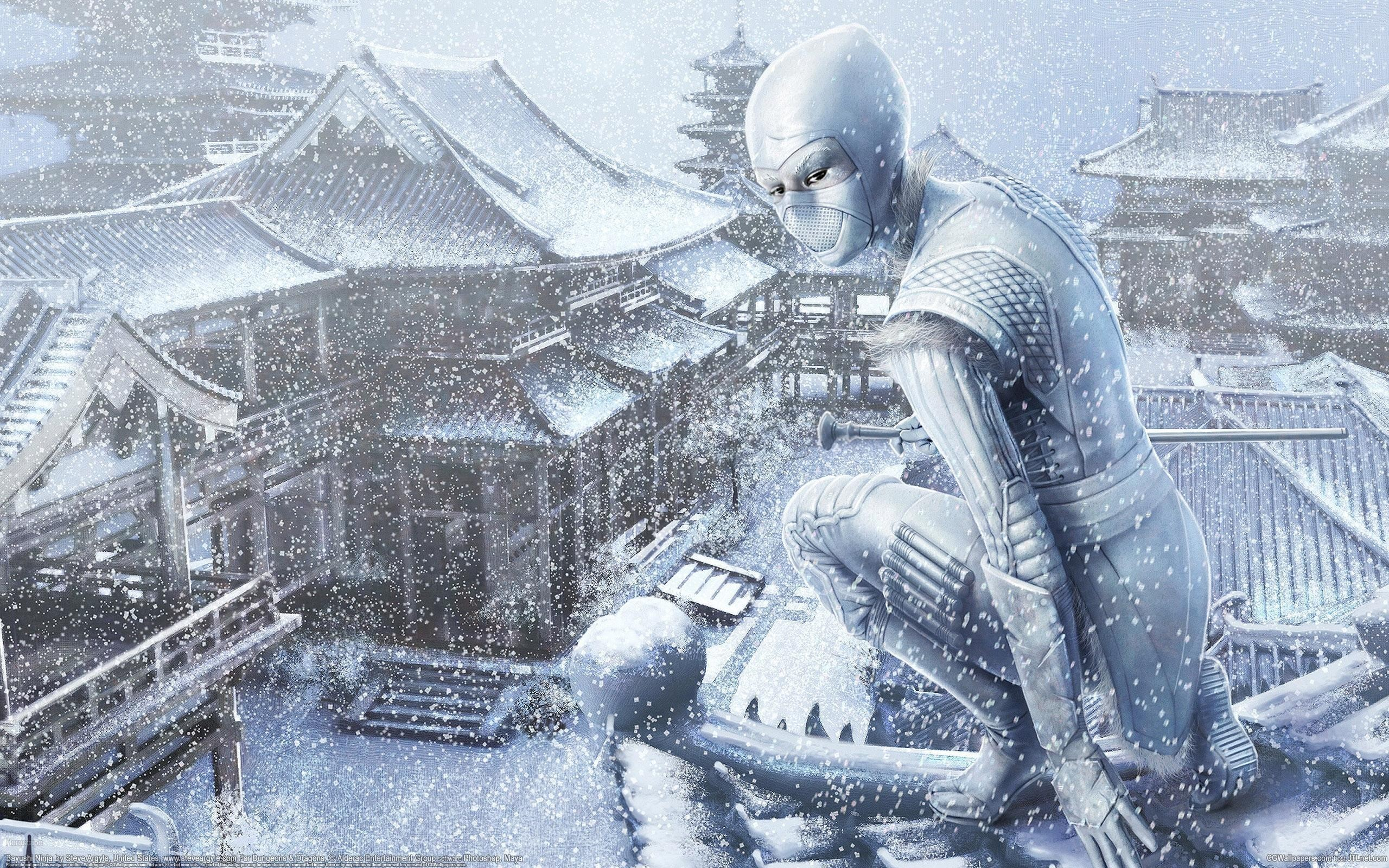 snow ninjas killers Villages HD Wallpaper