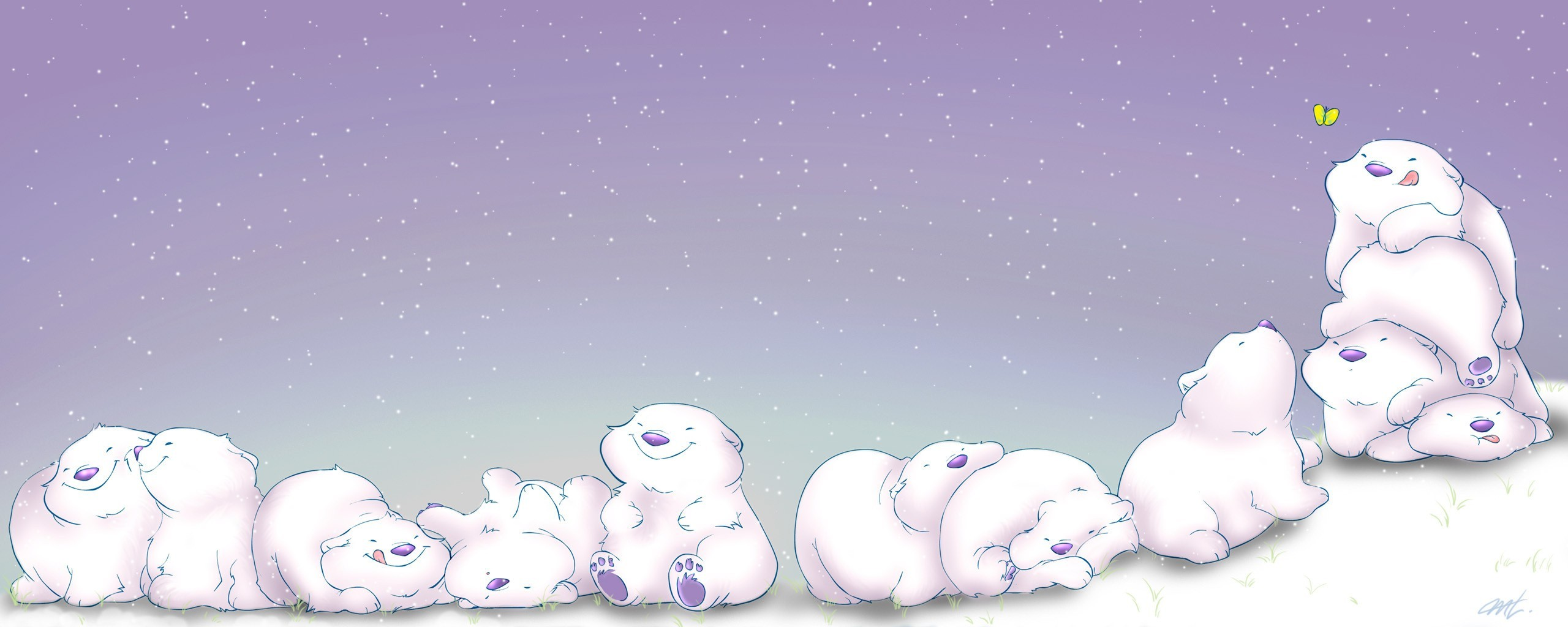 snow Polar Bears HD Wallpaper