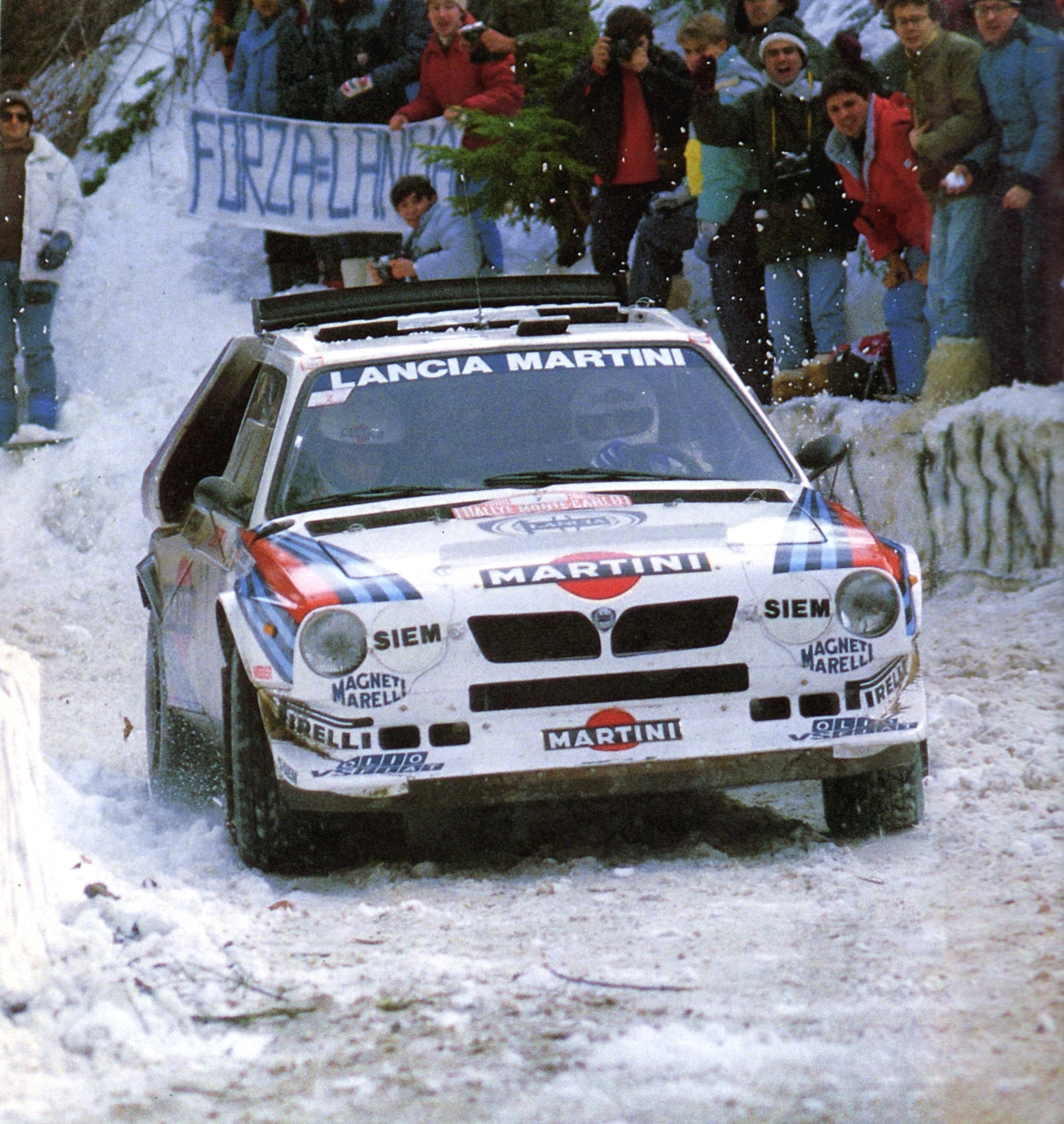 snow rally Lancia racing HD Wallpaper