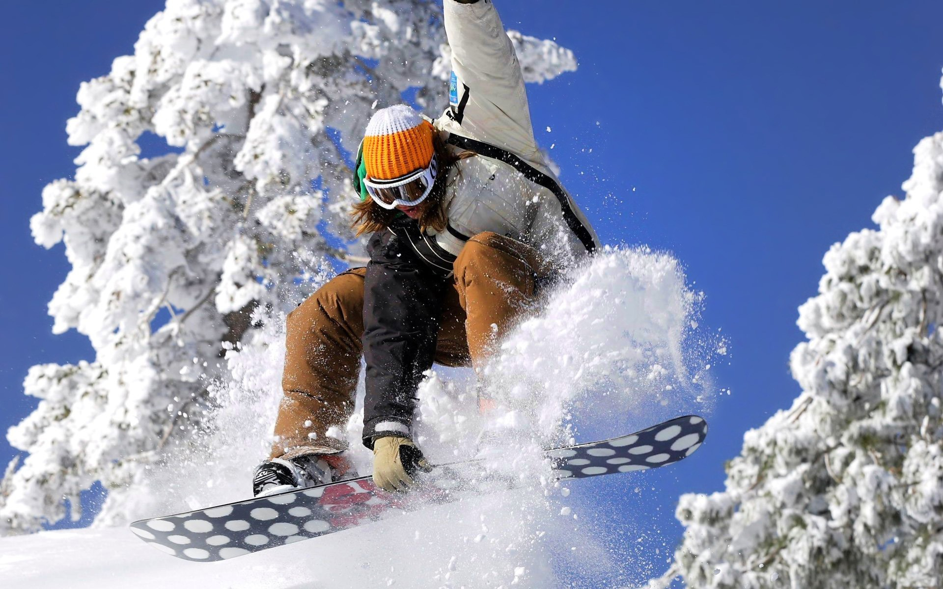snow Snowboarding HD Wallpaper