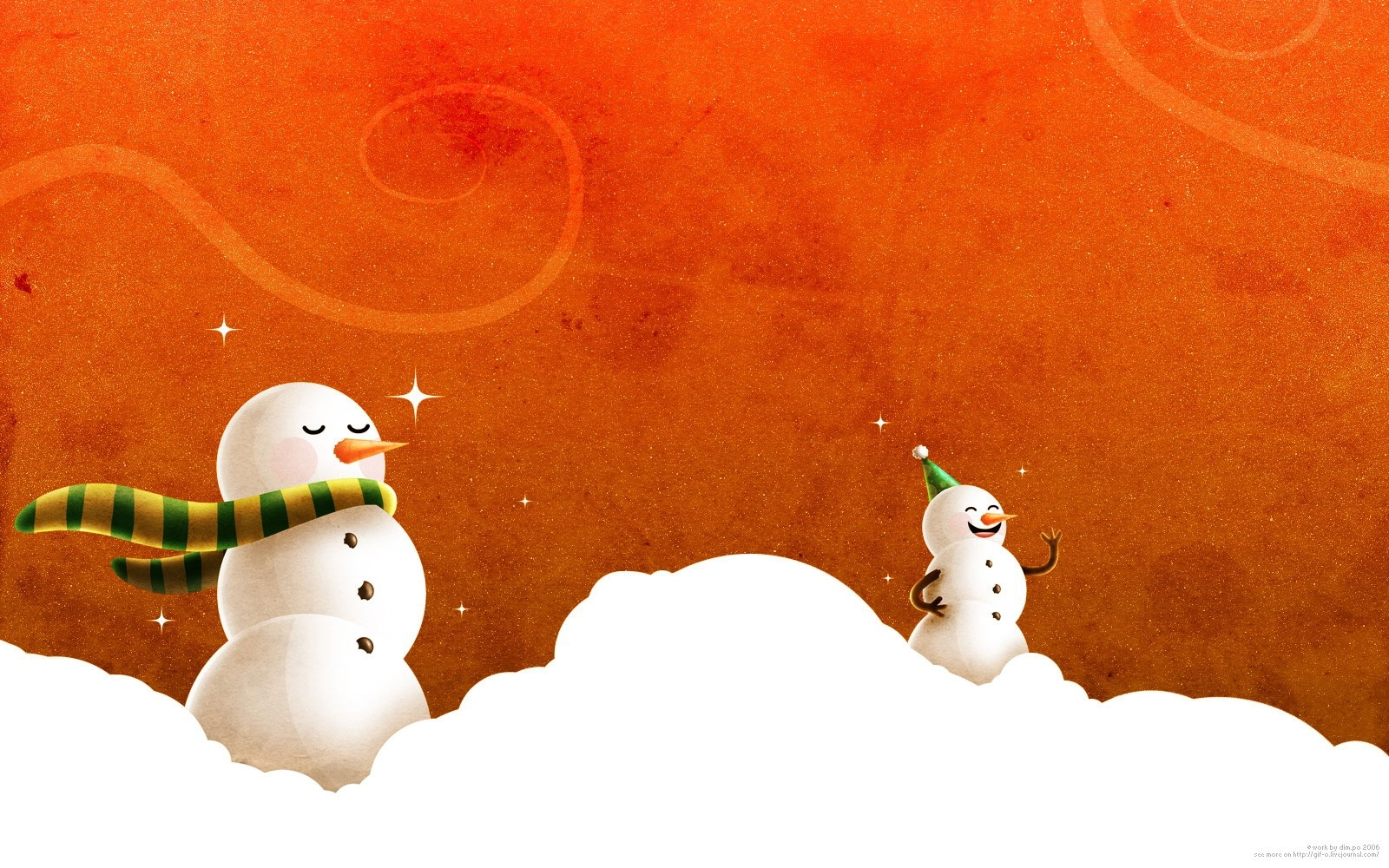 snowman HD Wallpaper