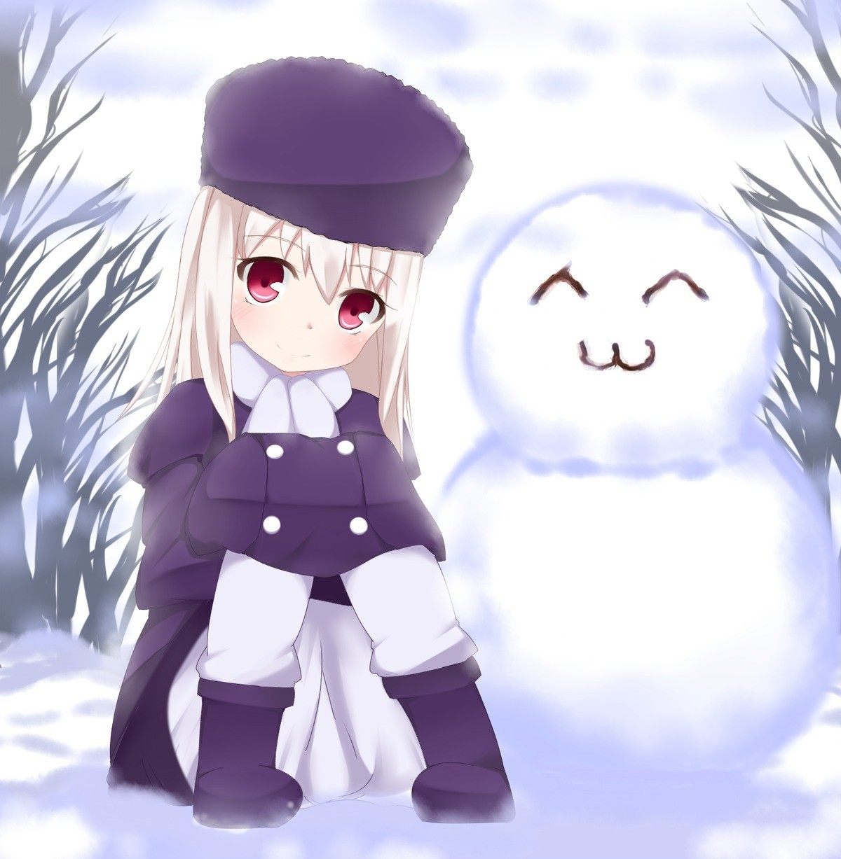 Snowmen fate stay night fate zero illyasviel von einzbern HD Wallpaper