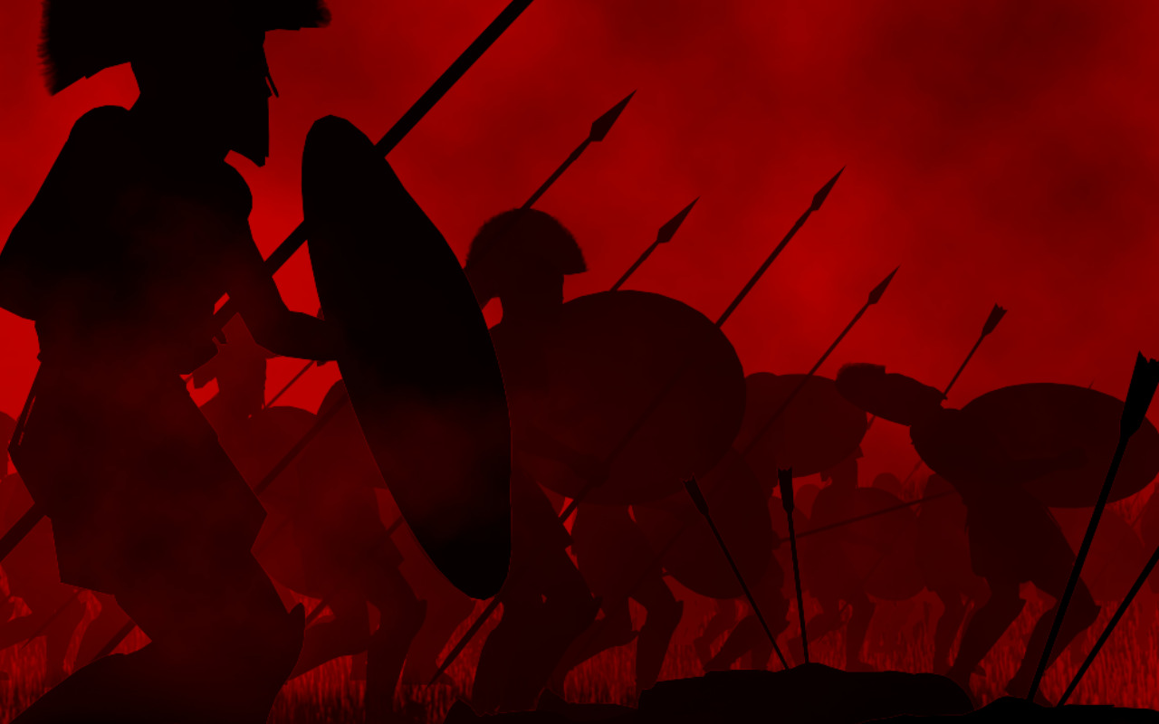 soldiers red silhouette Rome HD Wallpaper