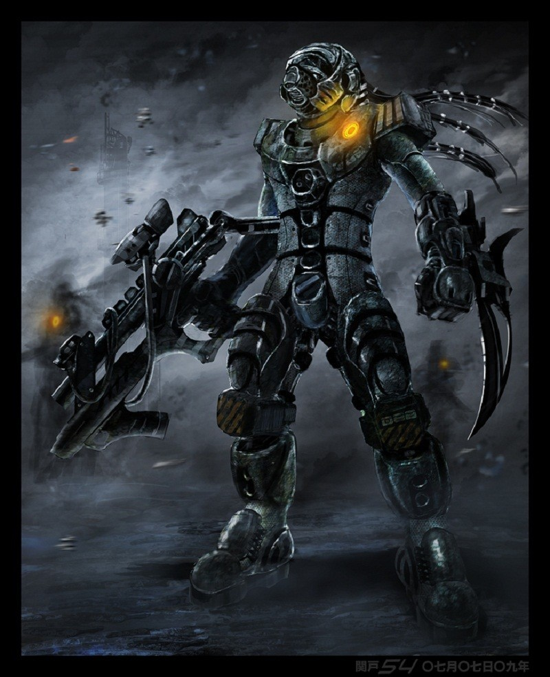 soldiers Robots futuristic mecha HD Wallpaper