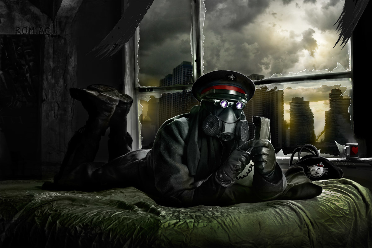 soldiers ruins funny gas HD Wallpaper