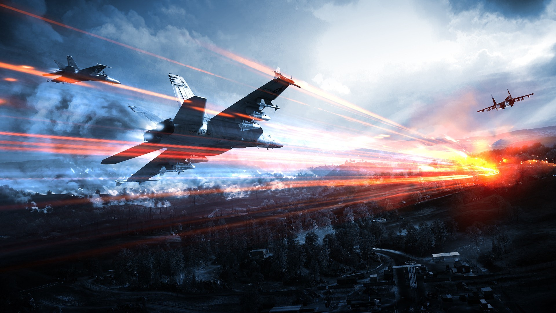 soldiers video games Aircraft HD Wallpaper