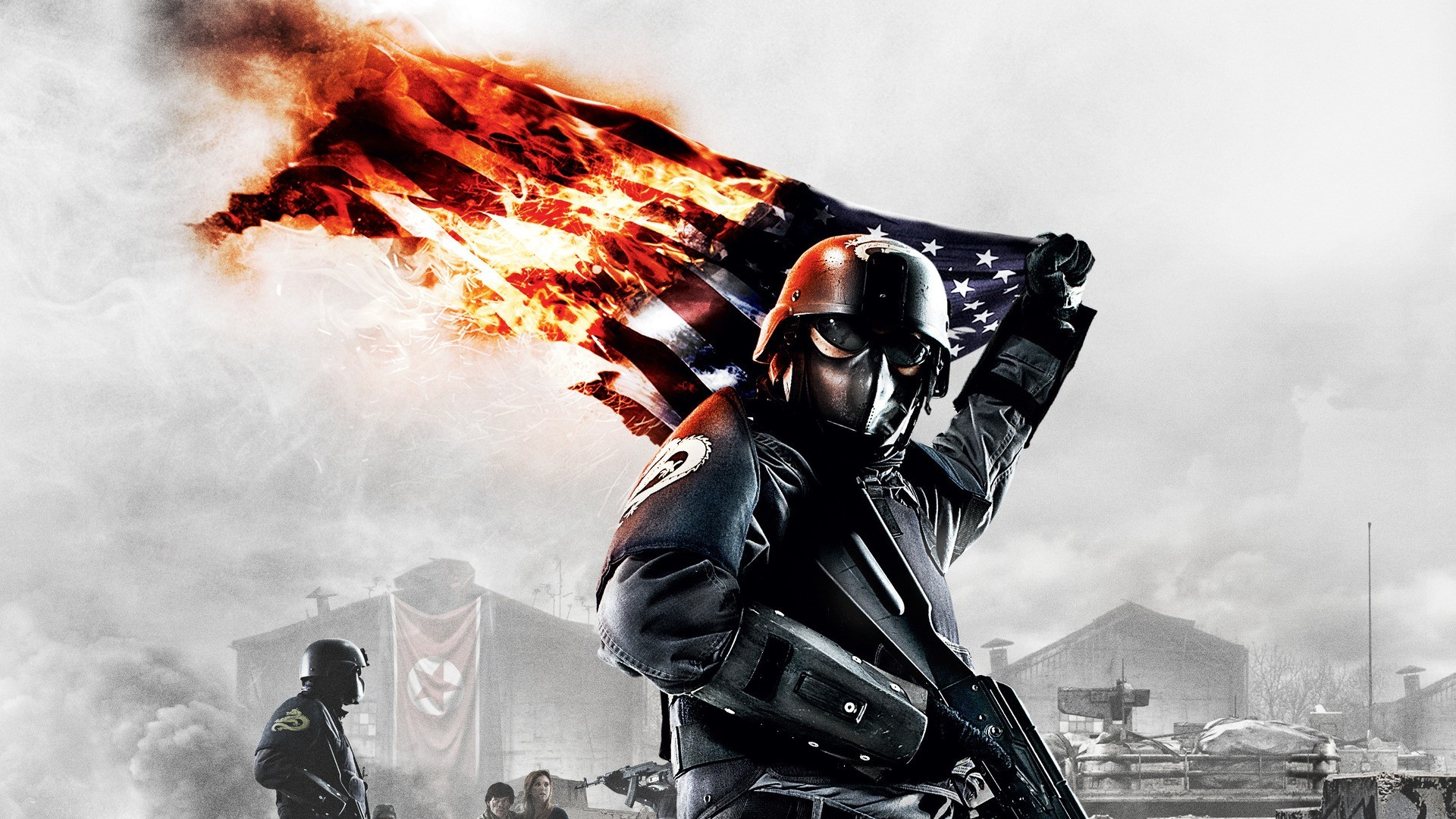 soldiers video games fire HD Wallpaper