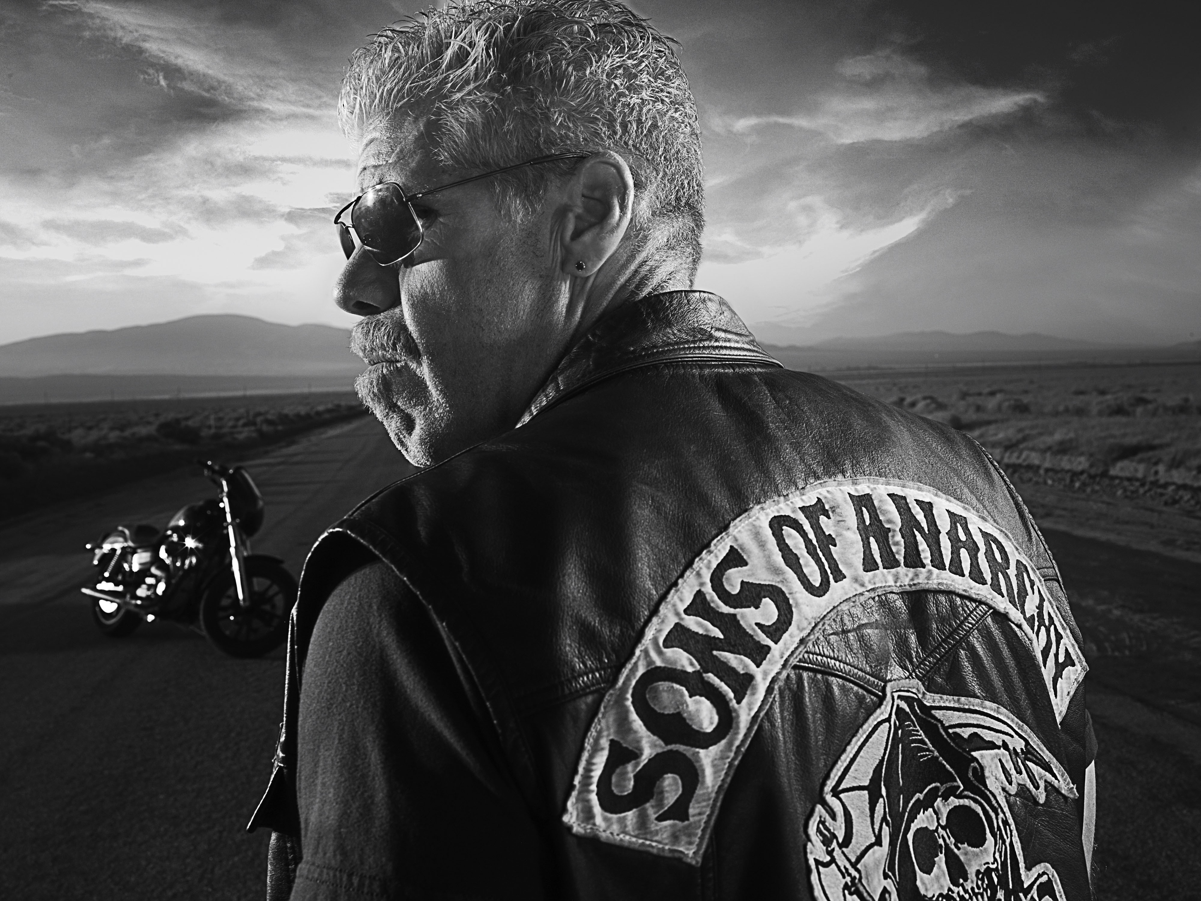 sons of anarchy monochrome HD Wallpaper