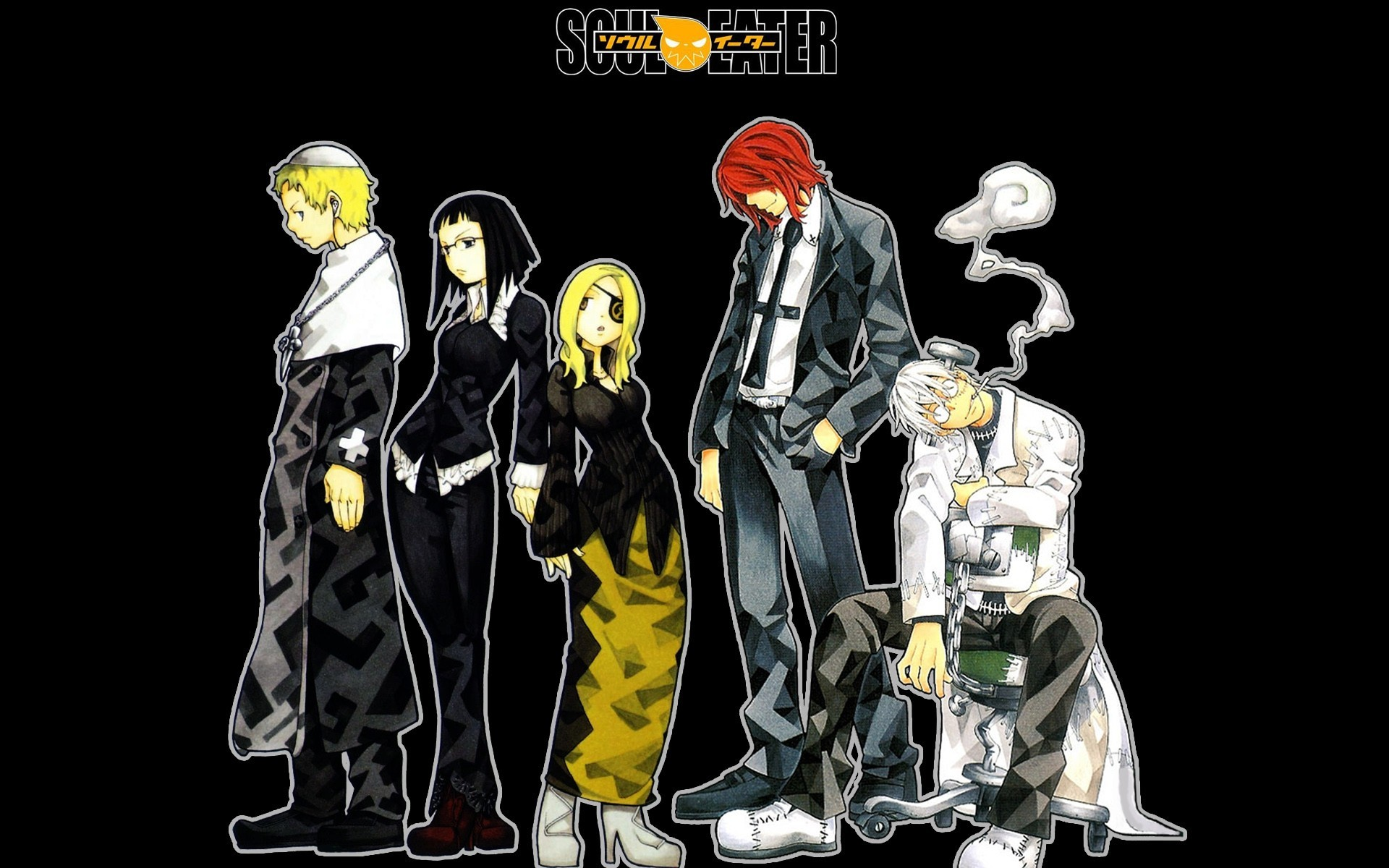 soul eater black background HD Wallpaper