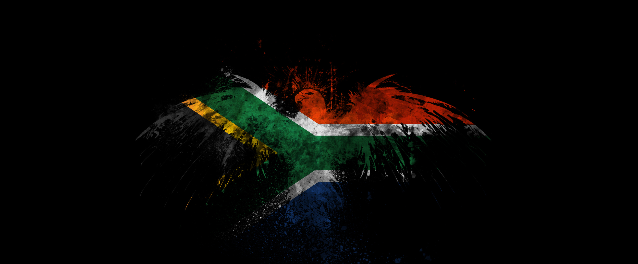 south Africa flag done HD Wallpaper