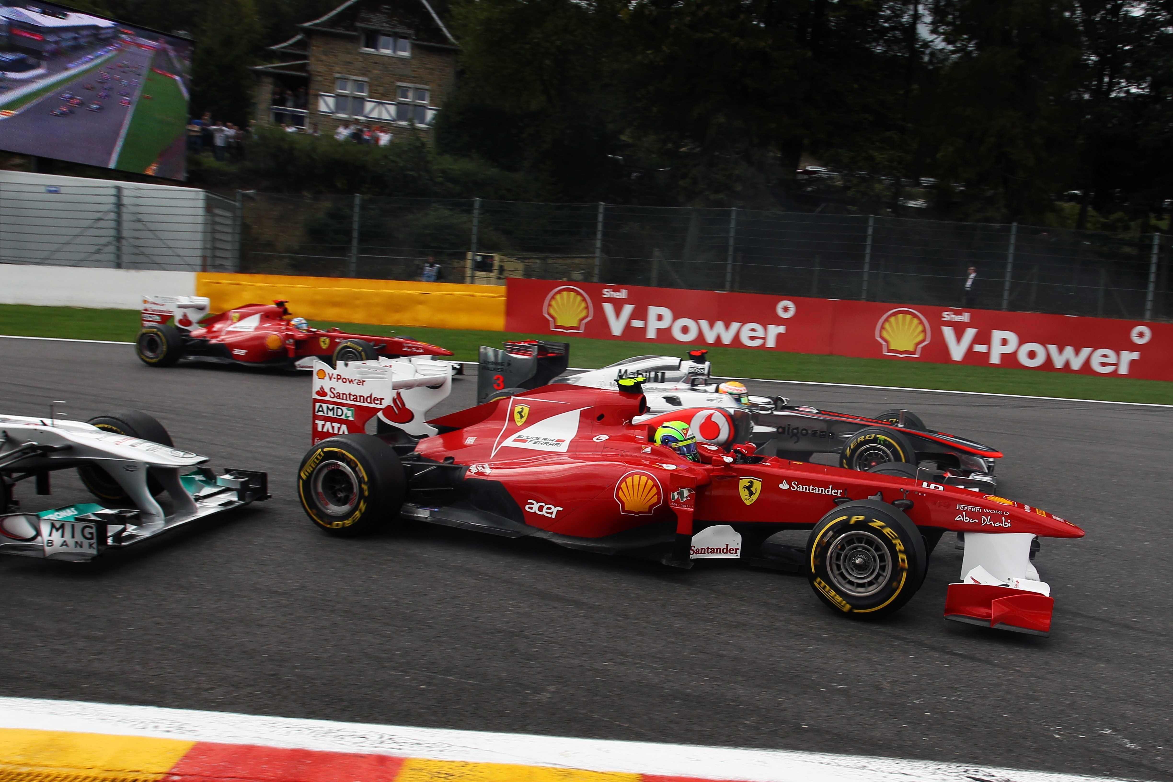 Spa Francorchamps cars Ferrari HD Wallpaper