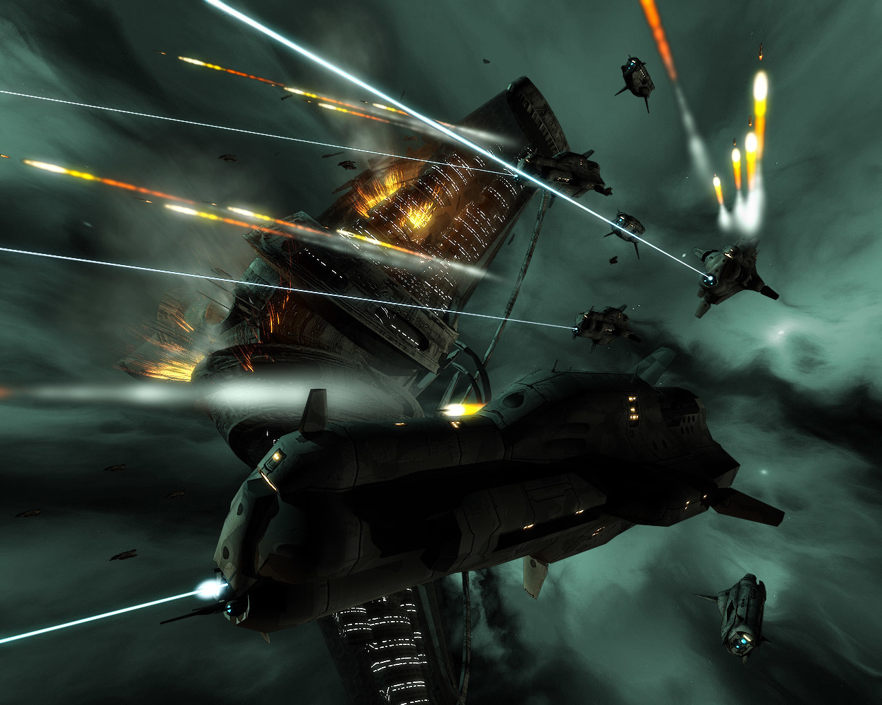 Space battleships battle War HD Wallpaper