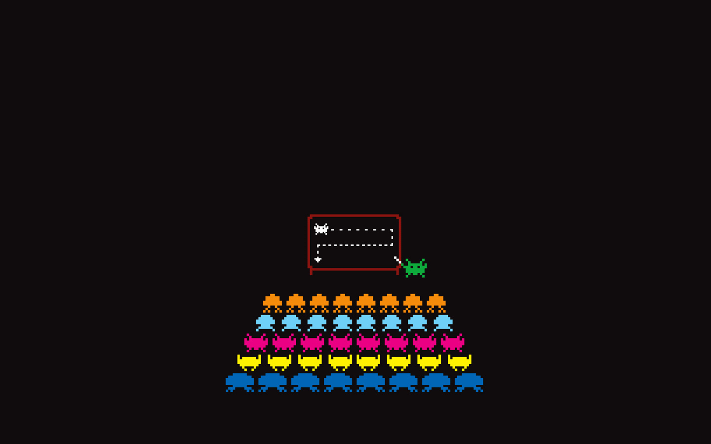 Space Invaders Simple Background HD Wallpaper
