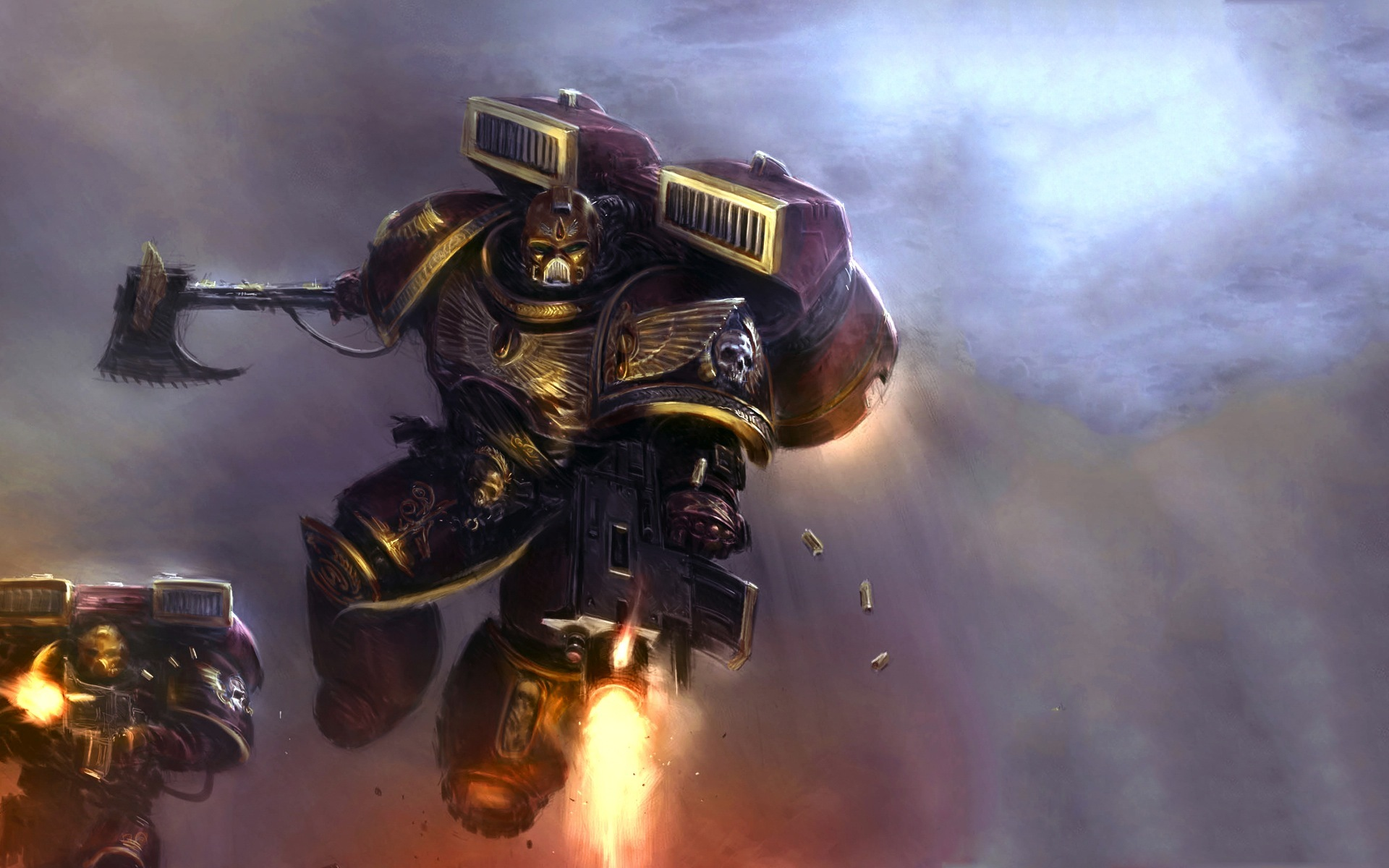Space Marines Blood Angels HD Wallpaper