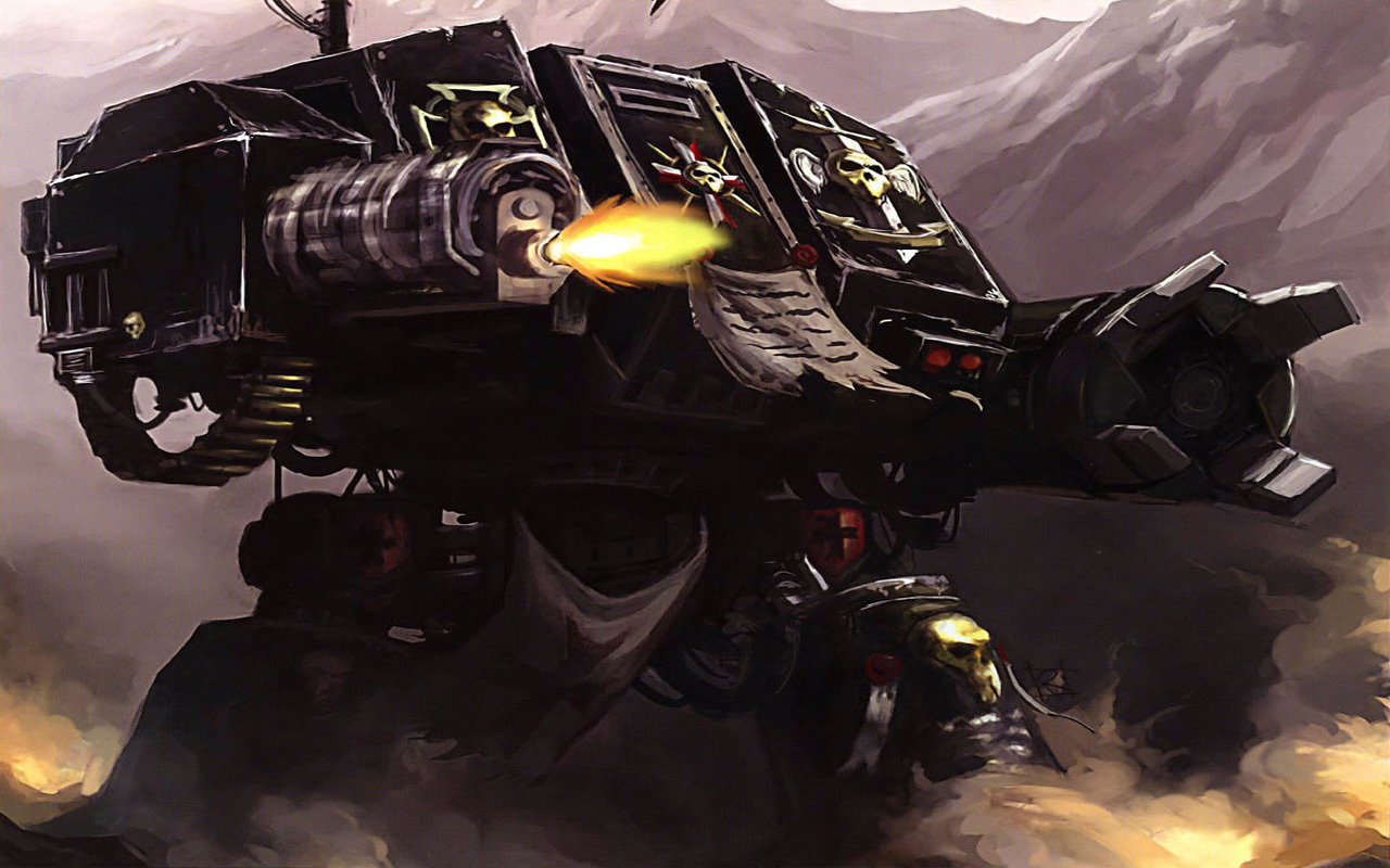 Space Marines dreadnought HD Wallpaper