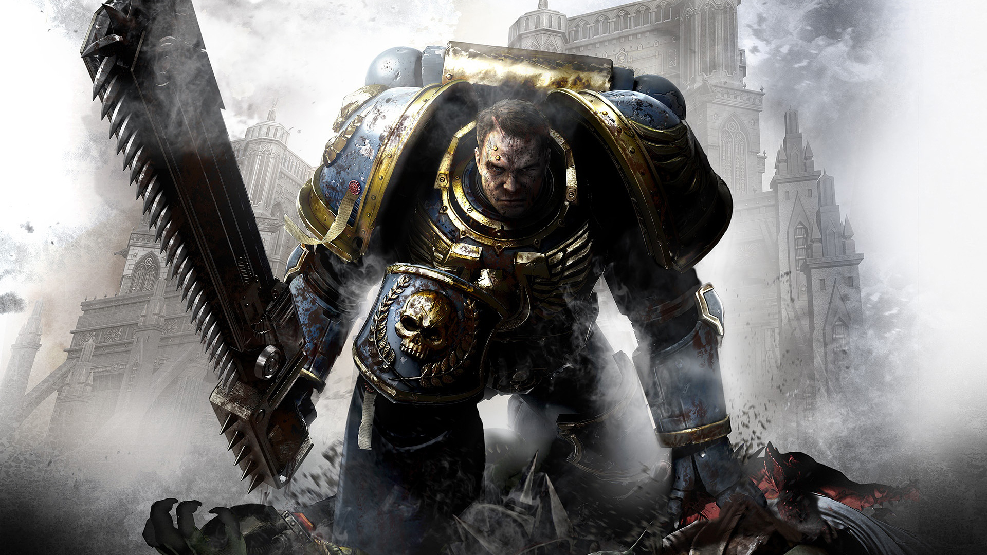Space Marines ultramarine HD Wallpaper