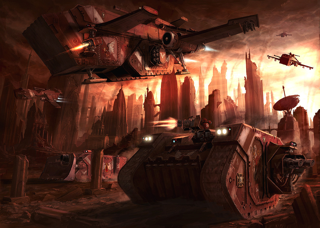 Space Marines vehicles Blood HD Wallpaper
