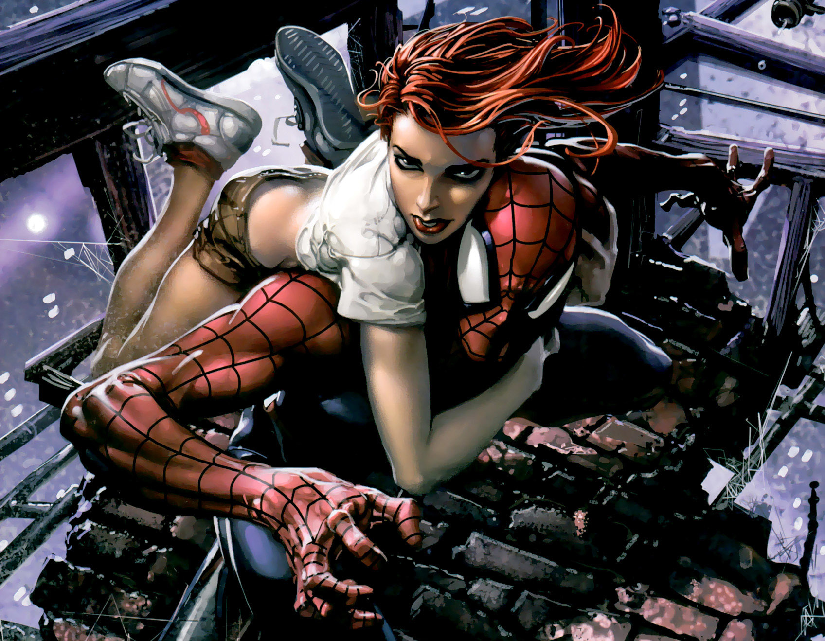 Spider-Man Mary Jane Watson HD Wallpaper