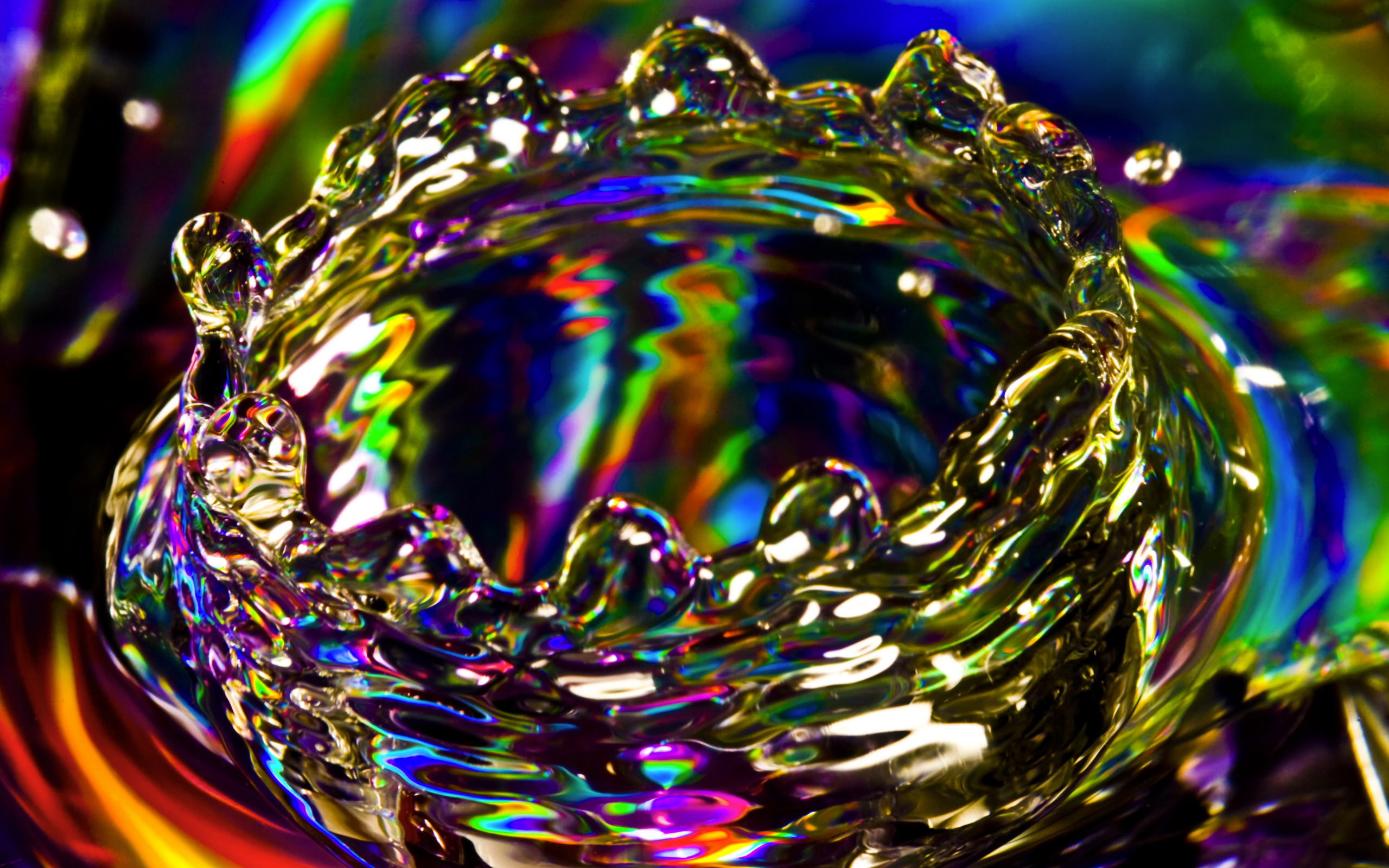 splash abstract droplet colors