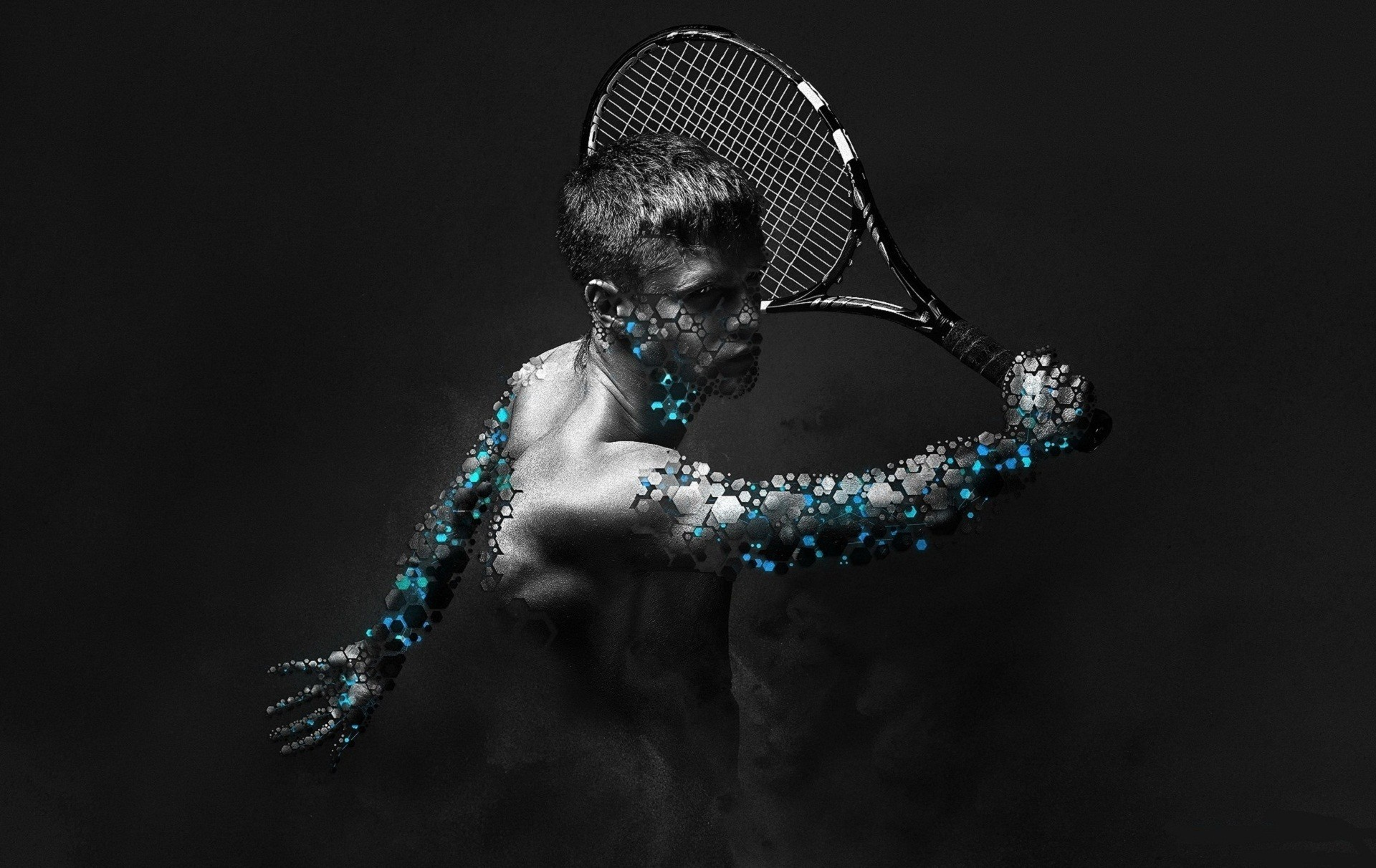 Sports Men tennis artwork