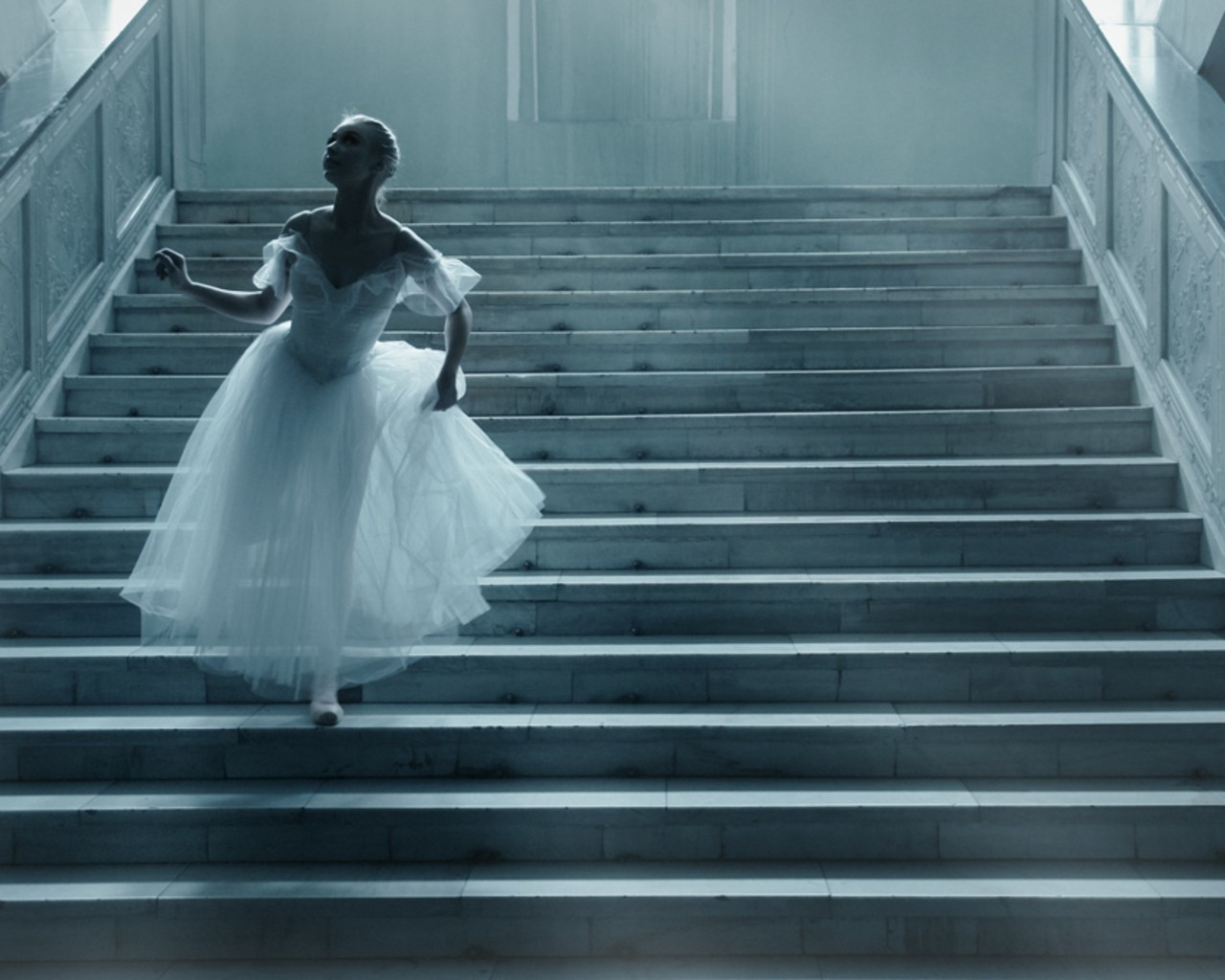 stairways ballerina HD Wallpaper