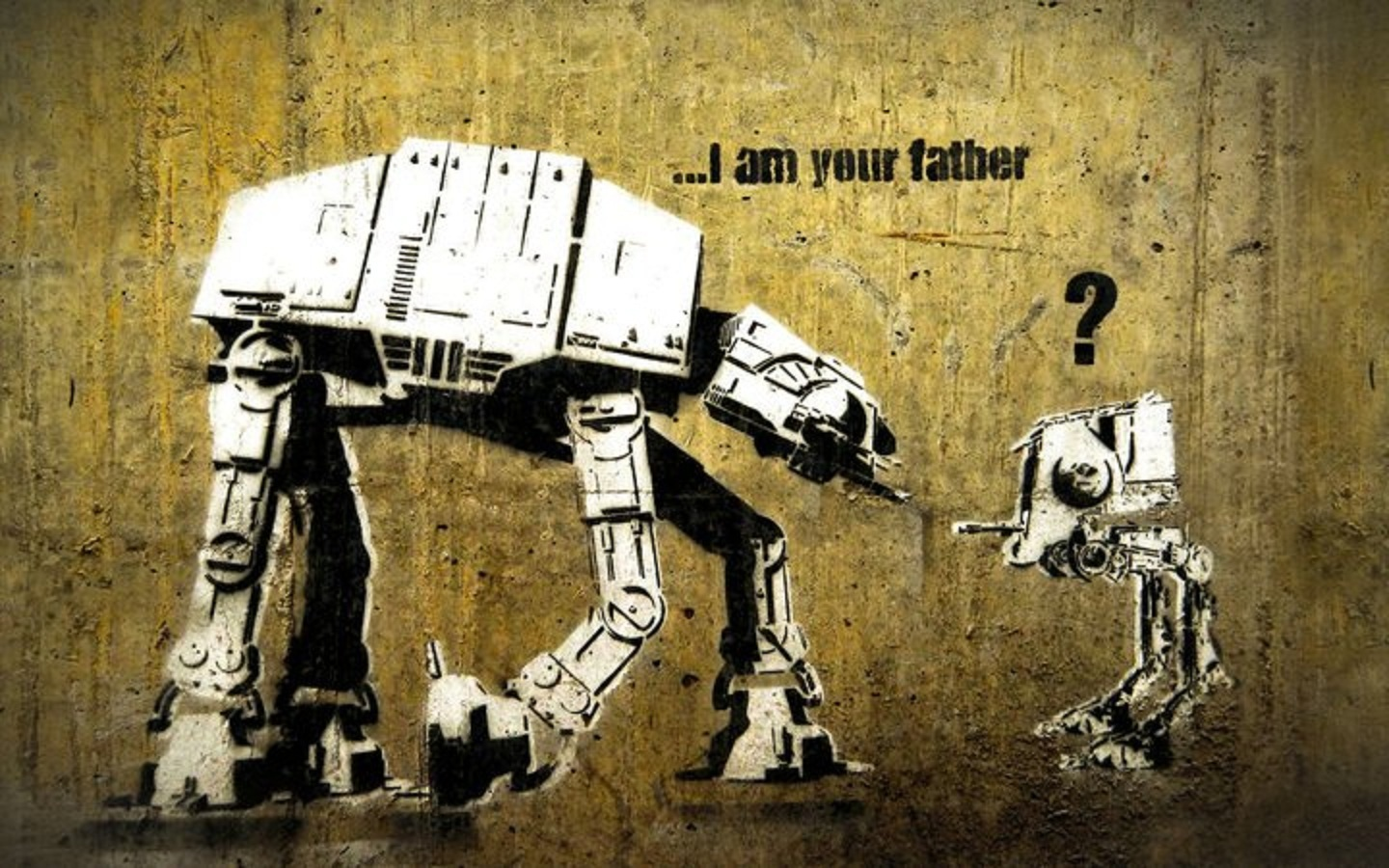 star wars banksy AT-AT HD Wallpaper