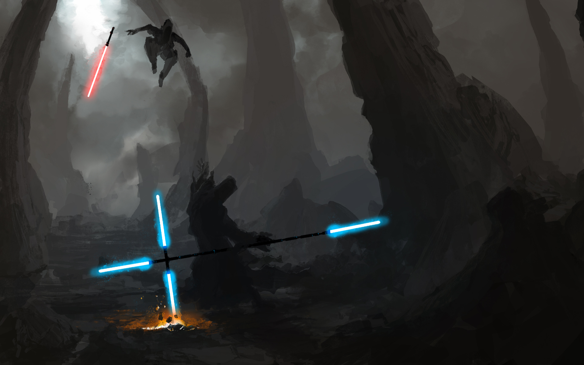 star wars energy duel HD Wallpaper