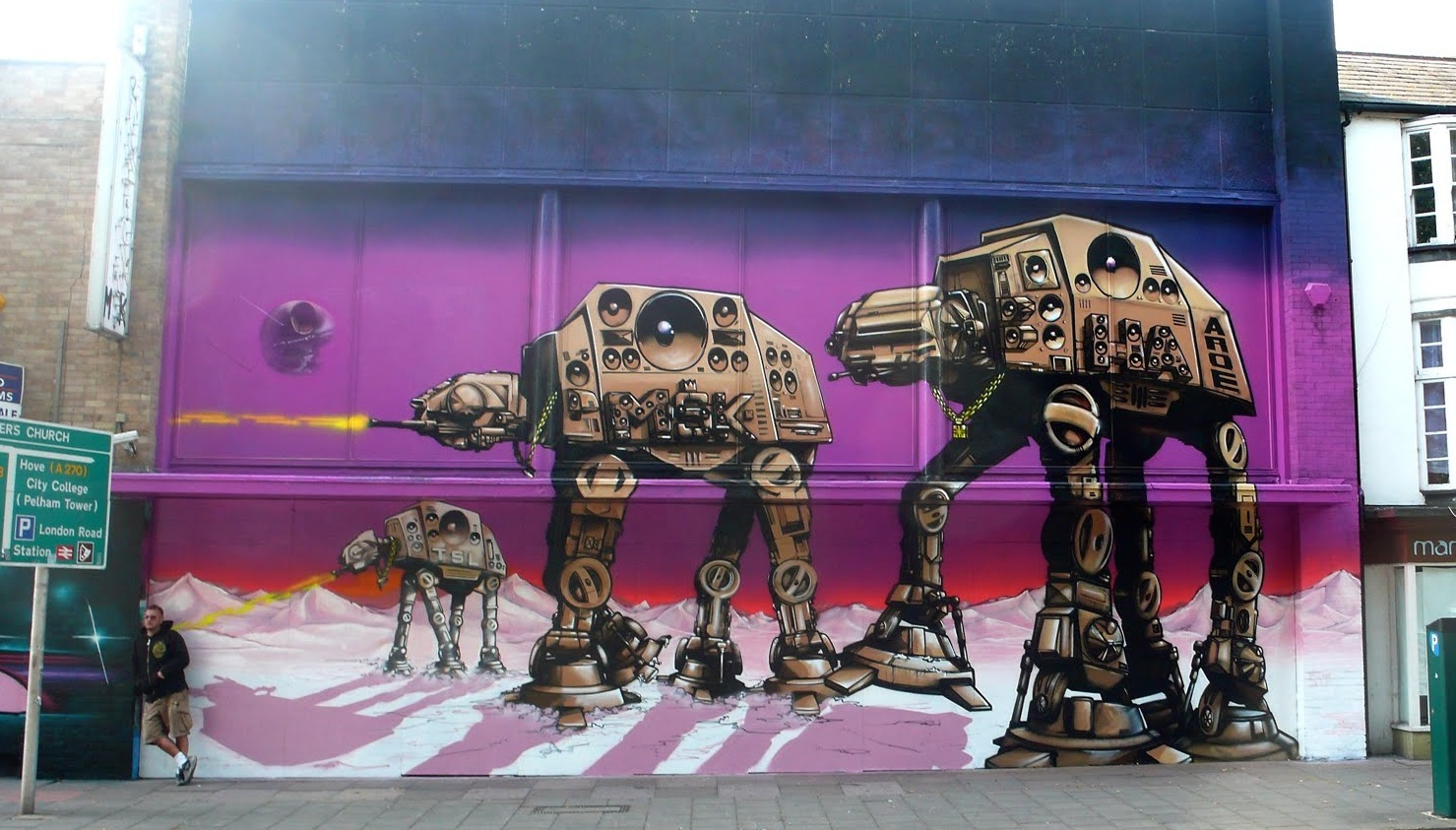 star wars graffiti AT-AT HD Wallpaper