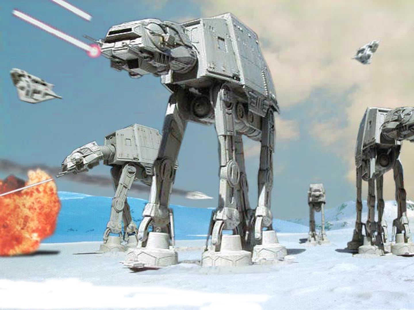 star wars Hoth AT-AT HD Wallpaper