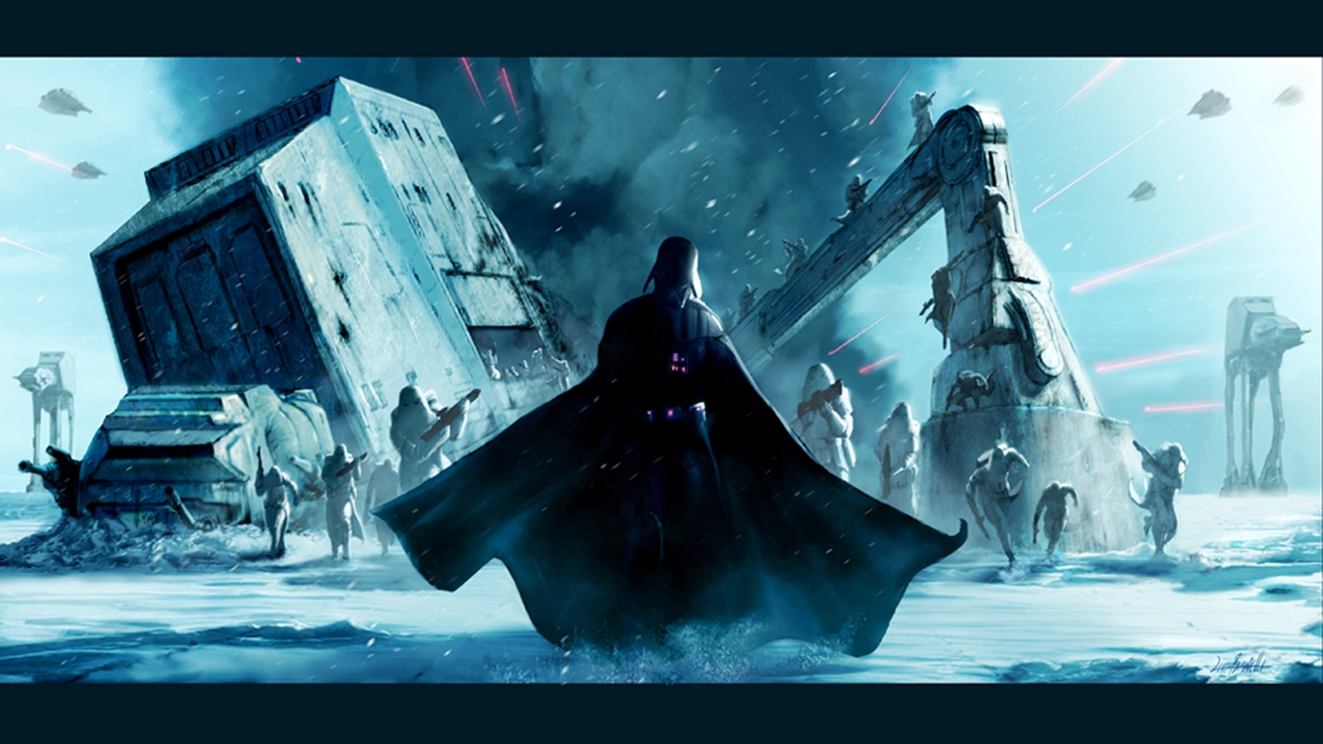 star wars snow Darth HD Wallpaper