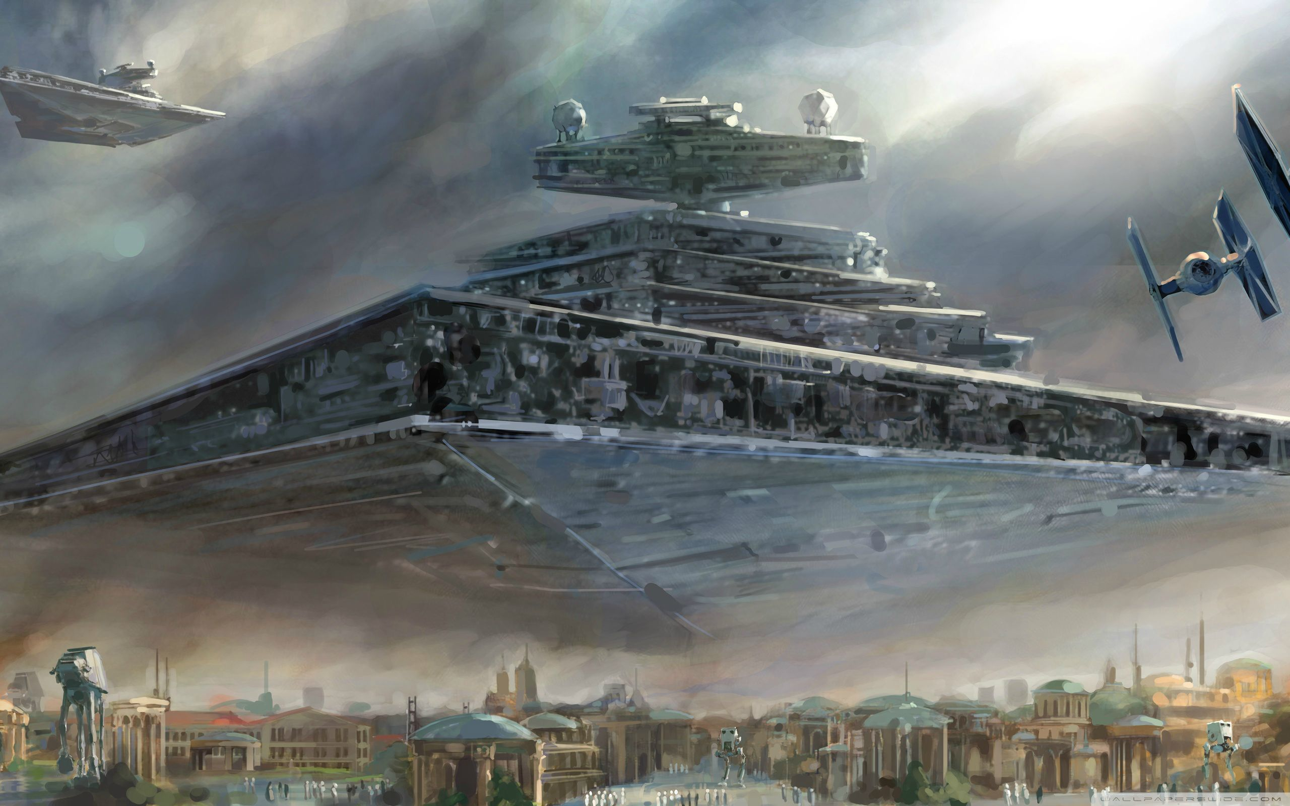 star wars spaceships AT-AT HD Wallpaper