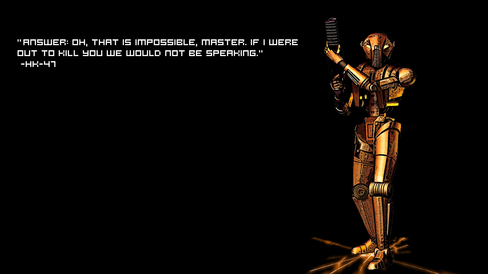 star wars text Quotes HD Wallpaper