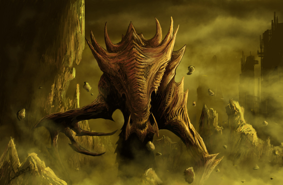 starcraft Zerg fantasy art HD Wallpaper