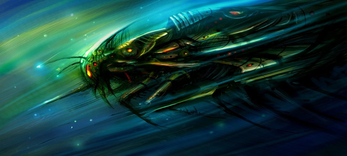 Stars insects spaceships Concept HD Wallpaper