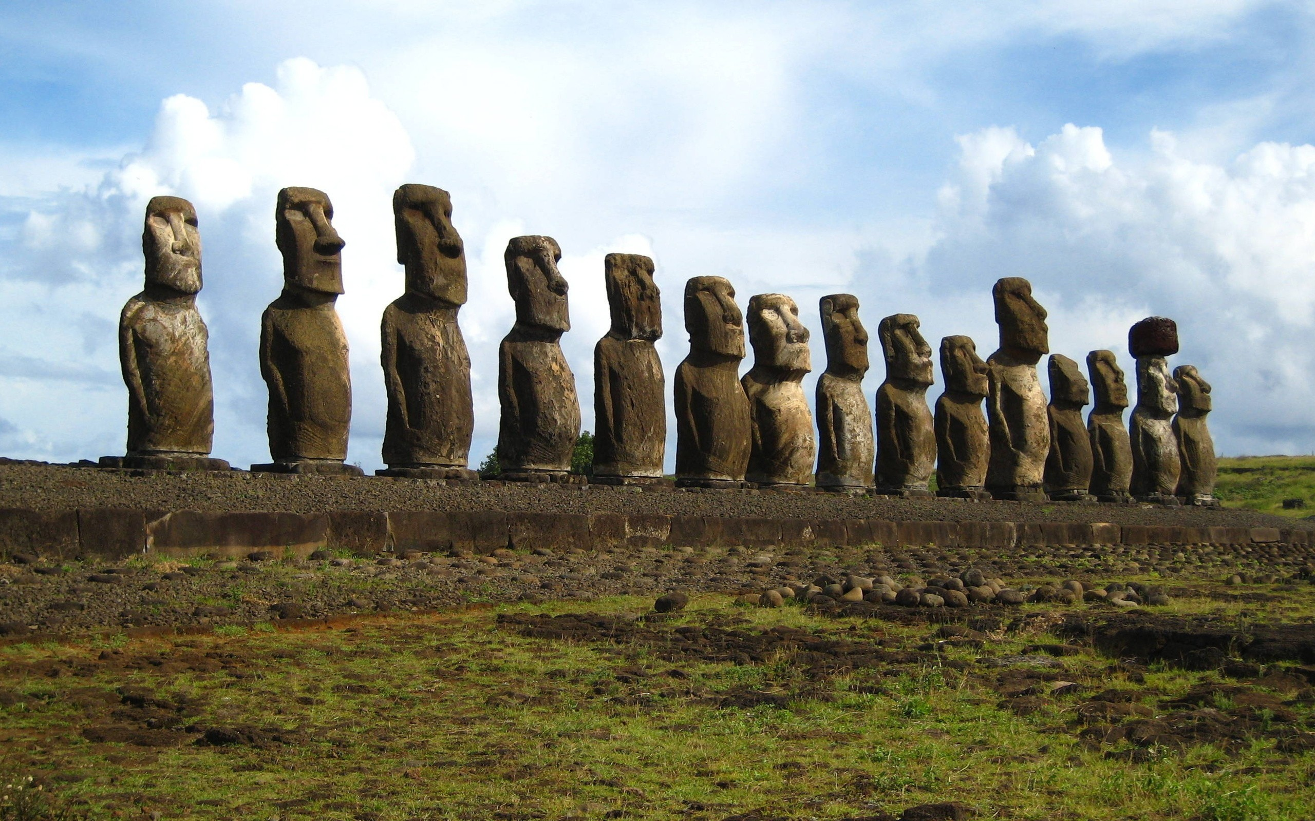 statues Easter Island HD Wallpaper