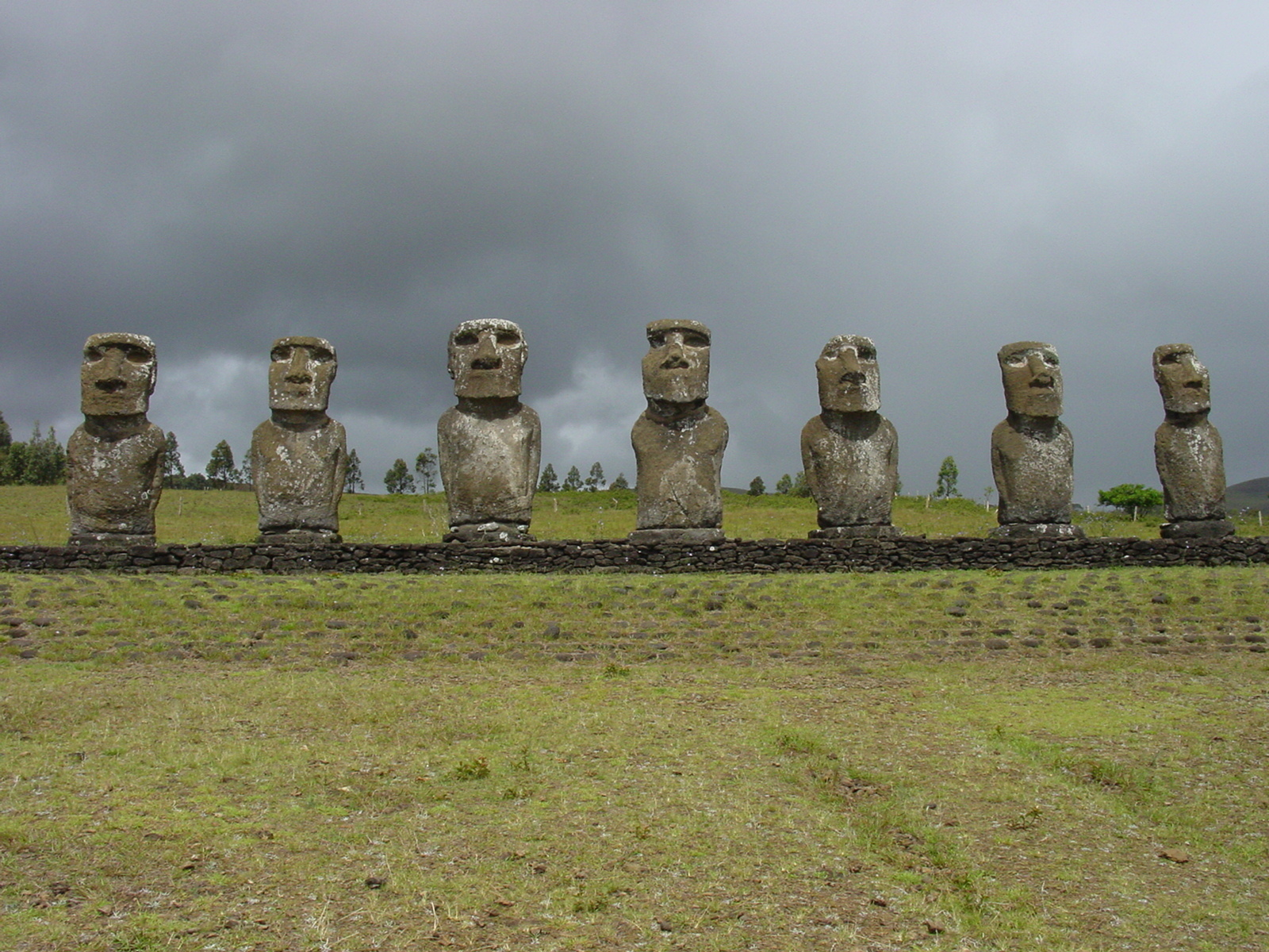 statues Easter Island moai HD Wallpaper