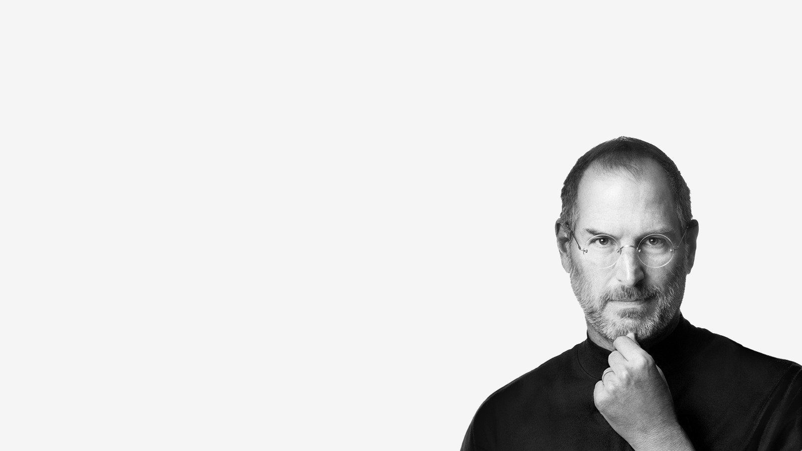 Steve Jobs white background HD Wallpaper