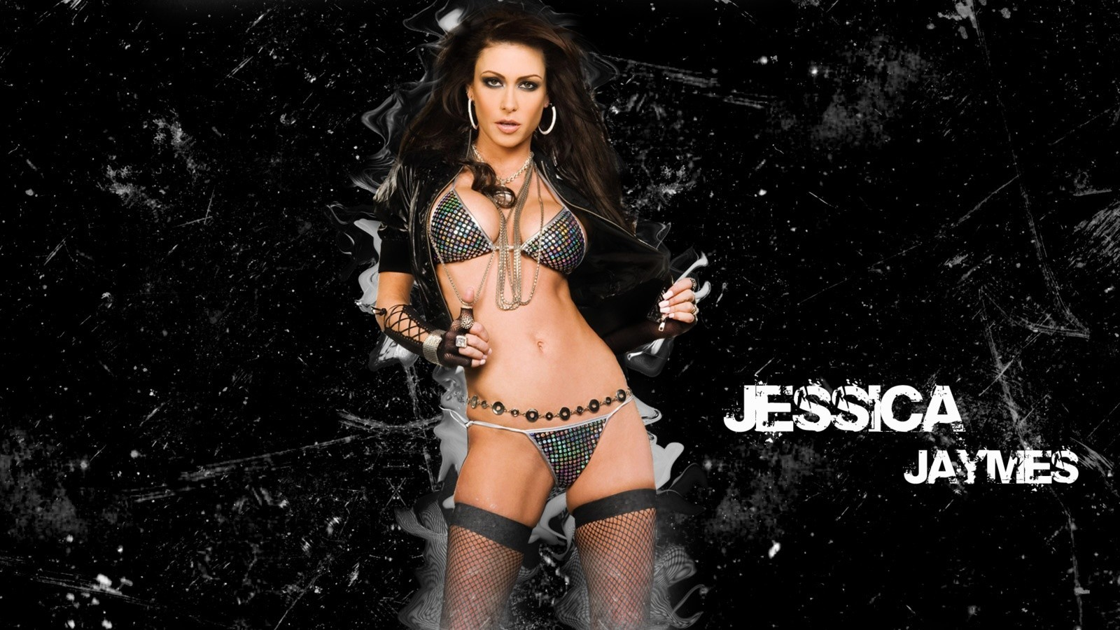 stockings Jessica Jaymes fishnet HD Wallpaper