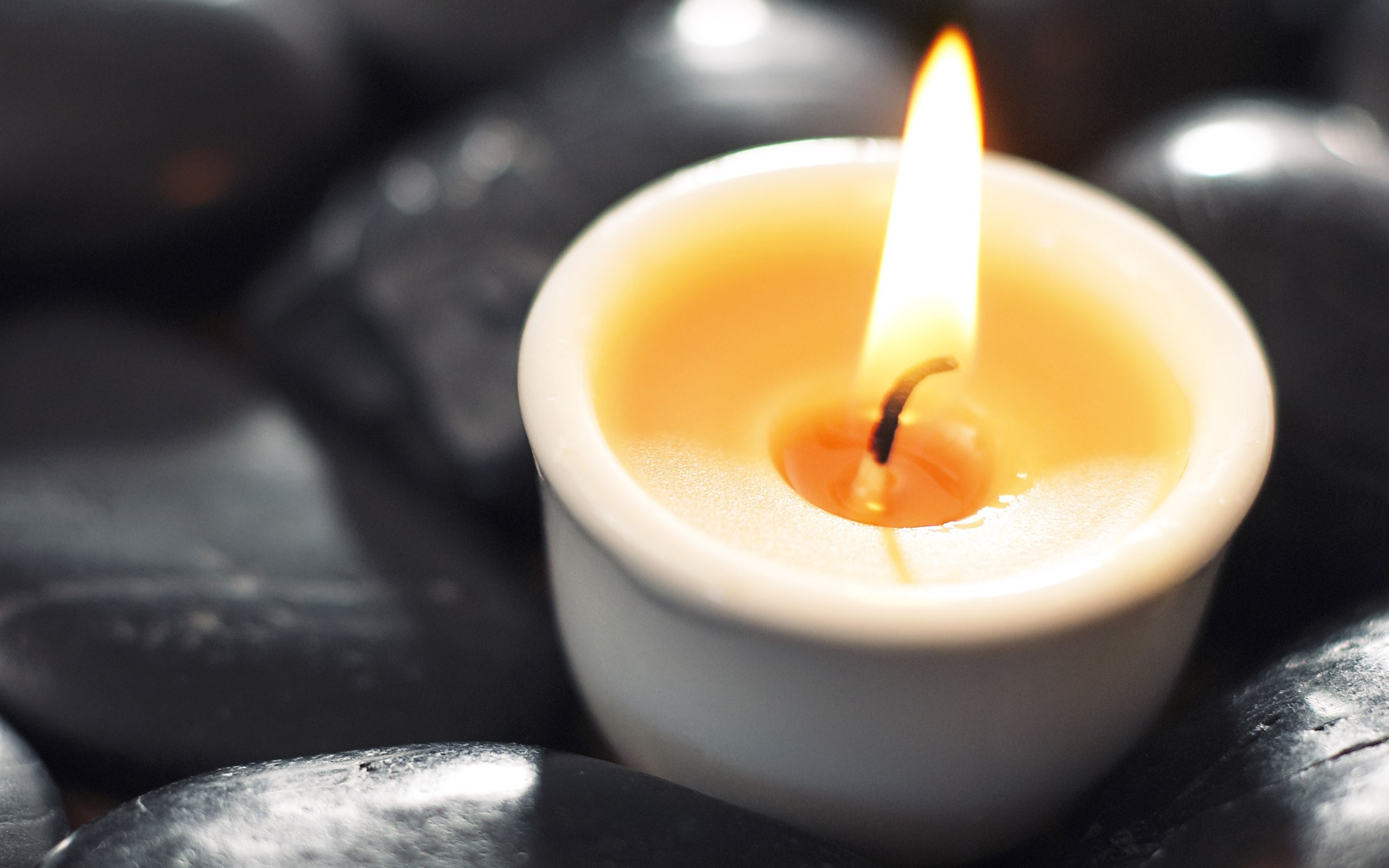 stones Candles flame HD Wallpaper
