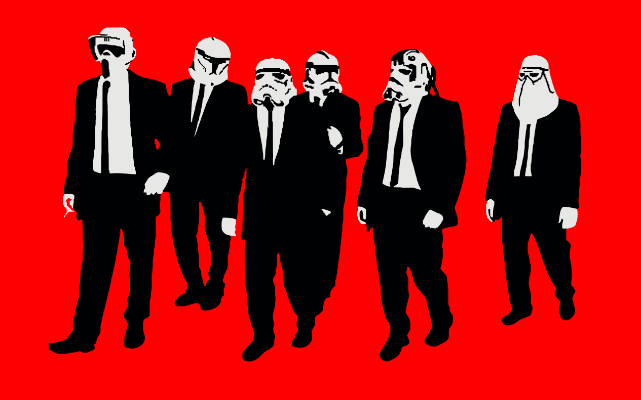 stormtroopers Reservoir Dogs Simple HD Wallpaper