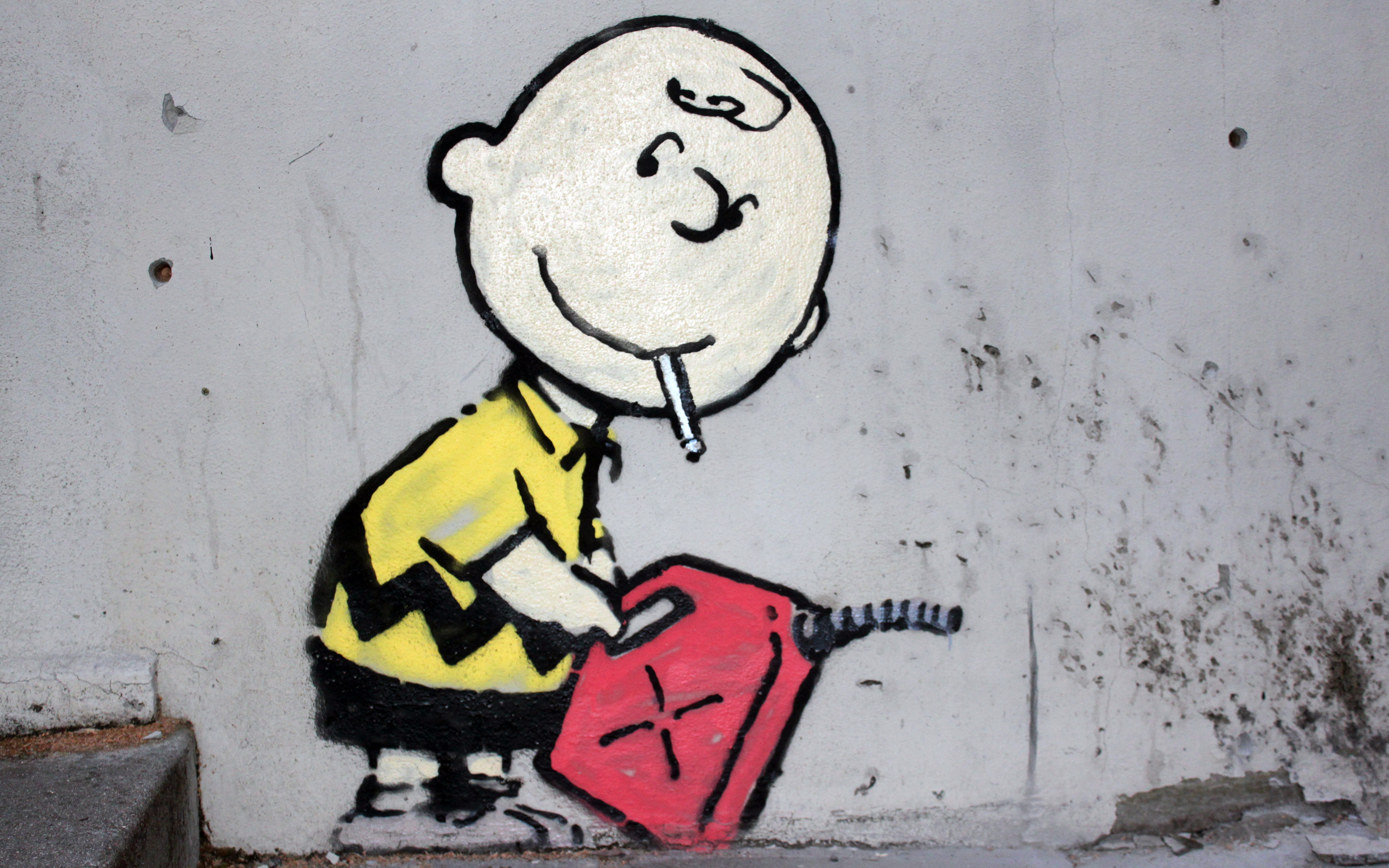 street art Charlie Brown HD Wallpaper
